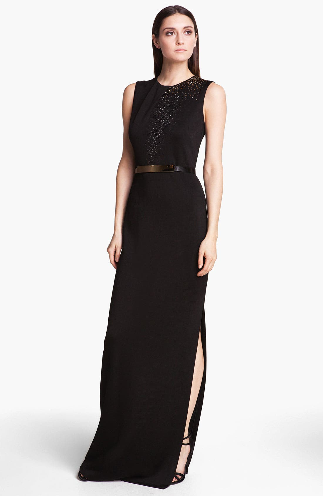 Main Image - St. John Collection Embellished Milano Knit Gown