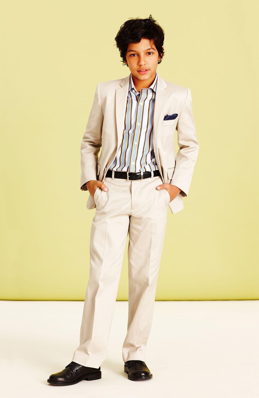 Main Image - C2 by Calibrate Blazer, Pants & Thomas Dean Dress Shirt (Big Boys)