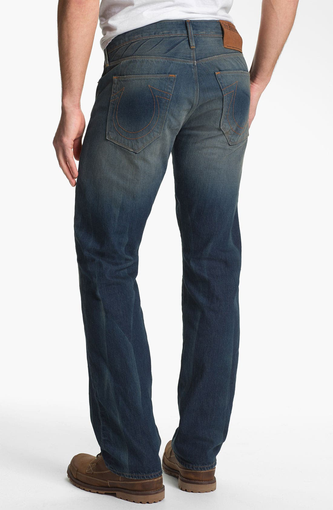 Alternate Image 1 Selected - True Religion Brand Jeans 'Bobby 50s' Straight Leg Jeans (Deadwood)