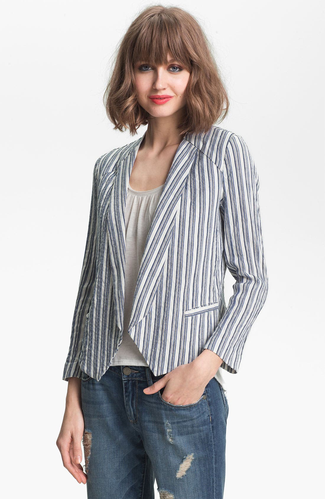 Main Image - Ella Moss 'Kaycee' Stripe Jacket