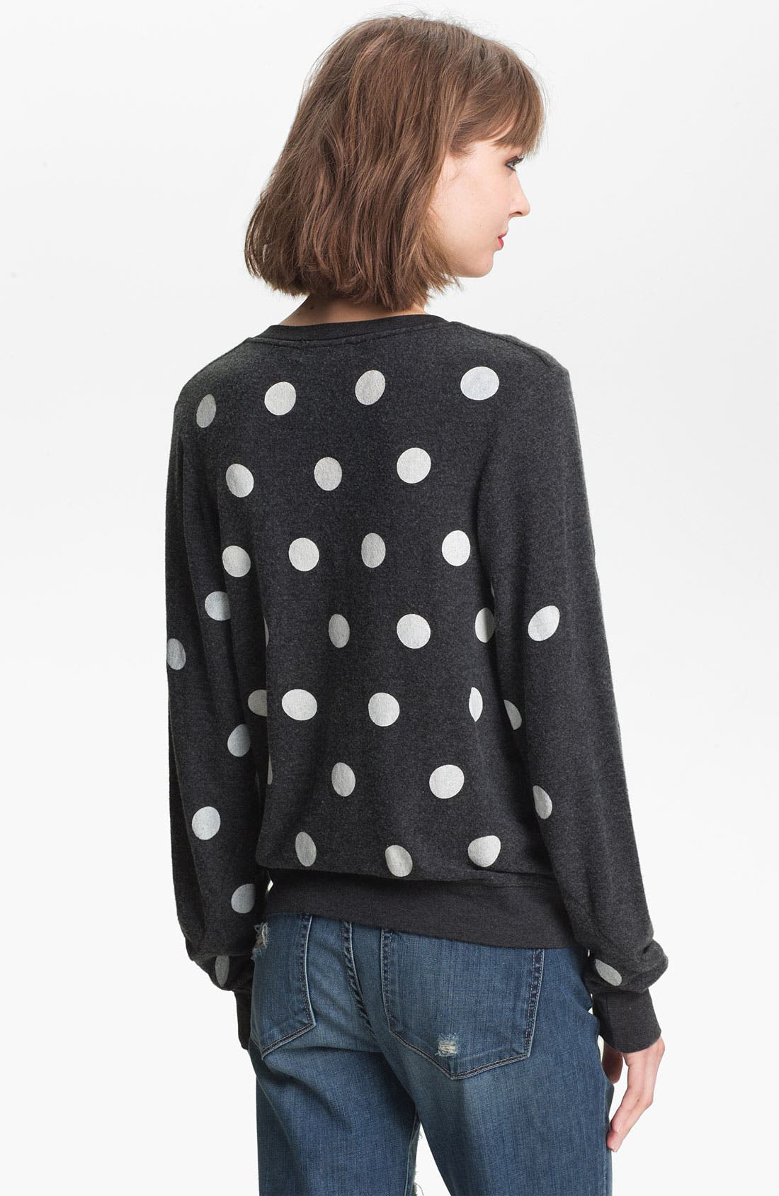 Alternate Image 2  - Wildfox Polka Dot Sweatshirt (Nordstrom Exclusive)