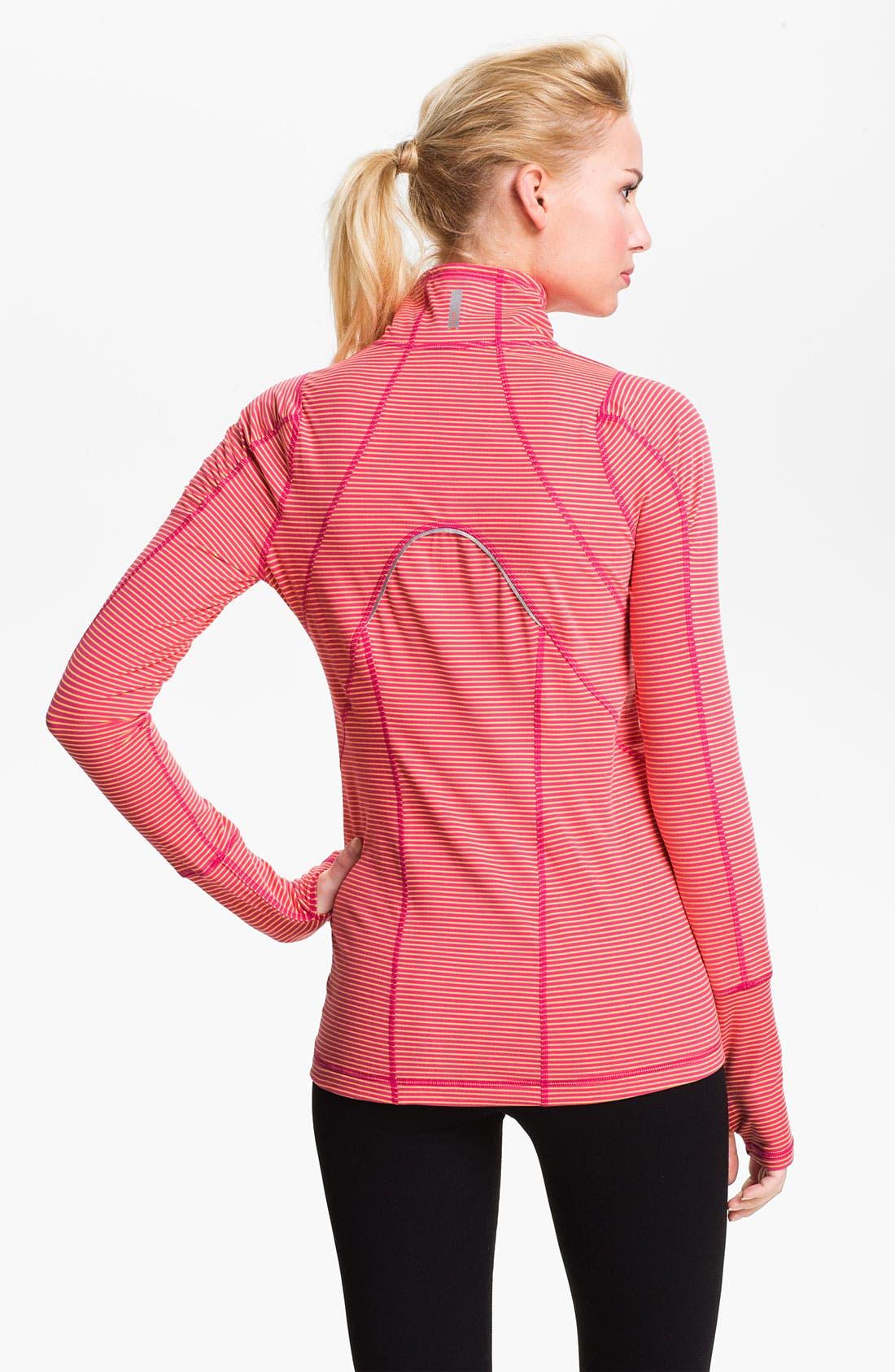 Alternate Image 2  - Zella 'Good Sport' Stripe Half Zip Top