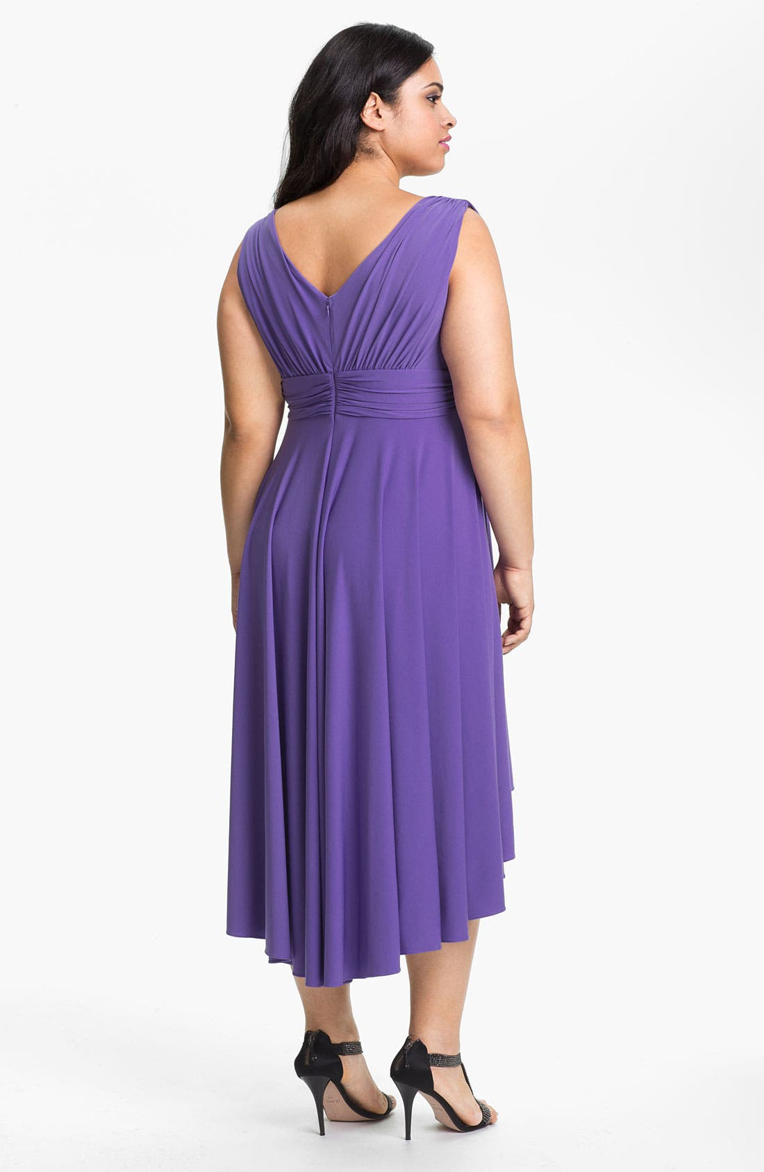 Alternate Image 2  - Suzi Chin for Maggy Boutique High/Low Jersey Dress (Plus Size) (Online Only)