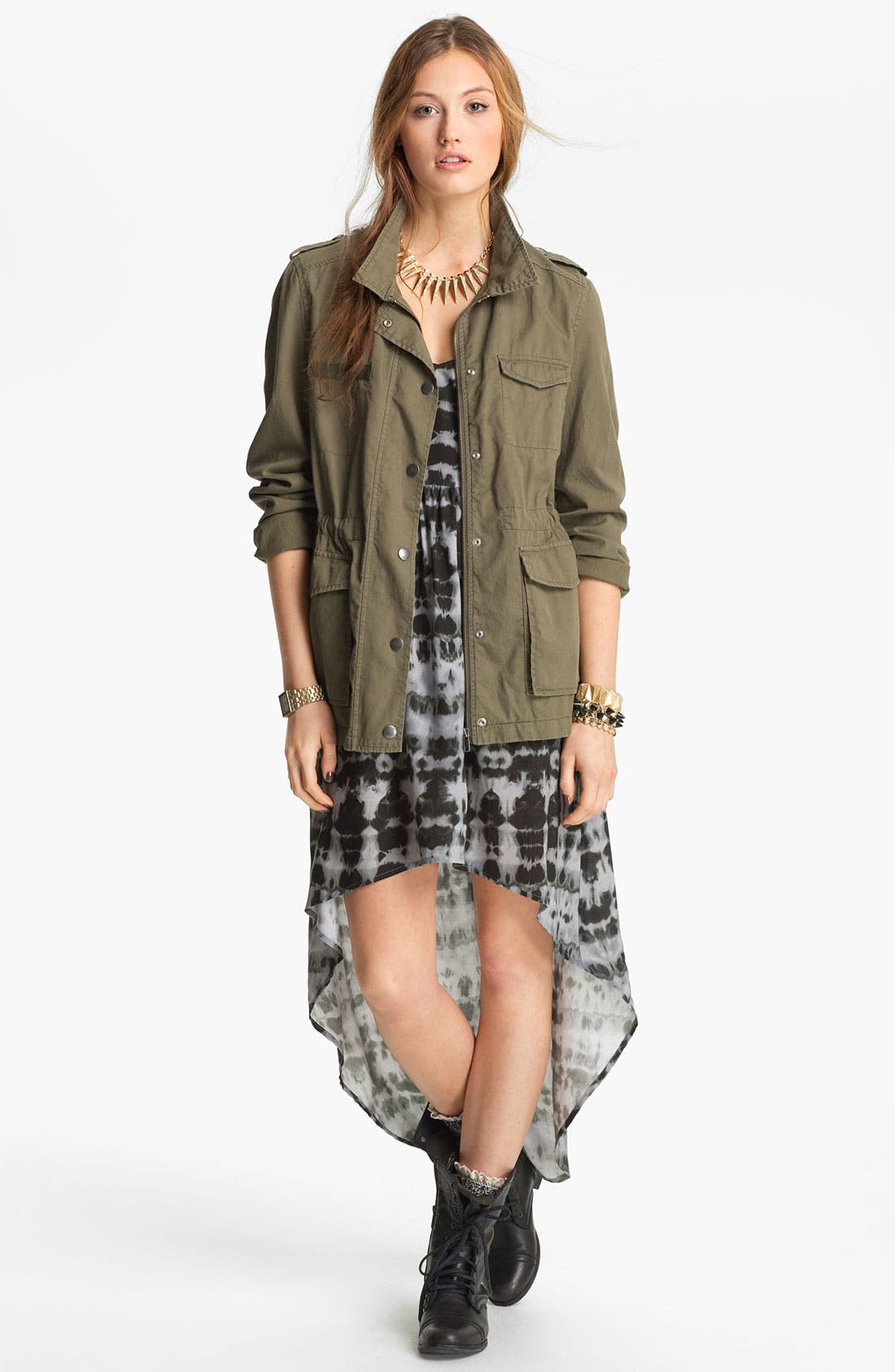 Alternate Image 2  - Mimi Chica Tie Dye High/Low Dress (Juniors)