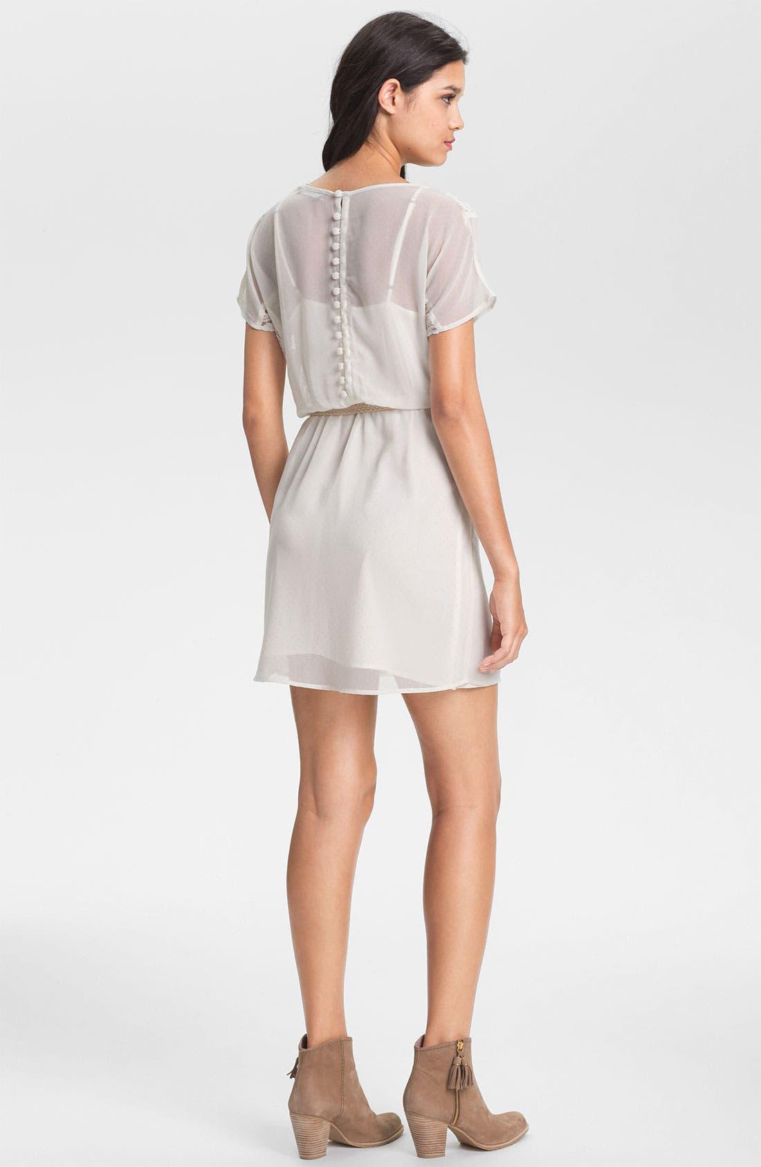 Alternate Image 2  - Sanctuary Braided Belt Lace Trim Dress