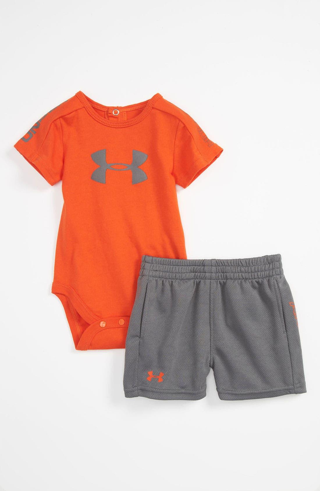 Main Image - Under Armour 'Integrity 2.0' Bodysuit & Shorts (Infant)