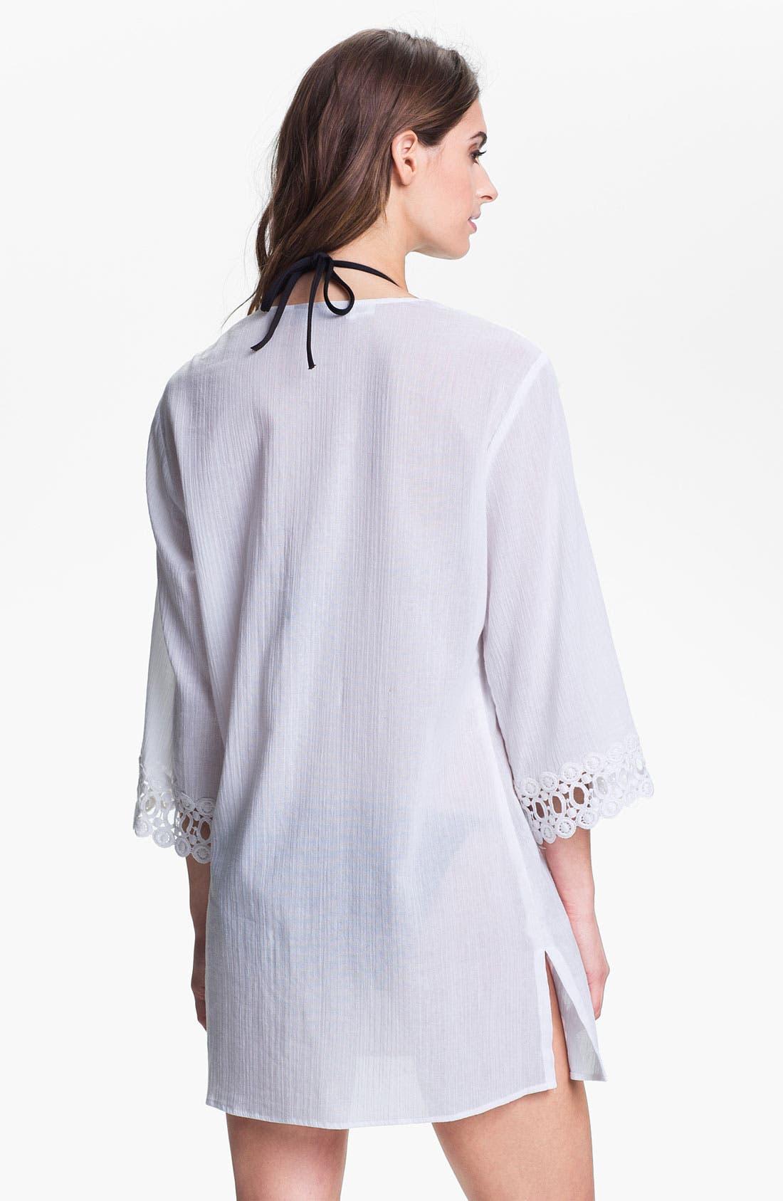 Alternate Image 2  - La Blanca Crochet Trim Cover-Up