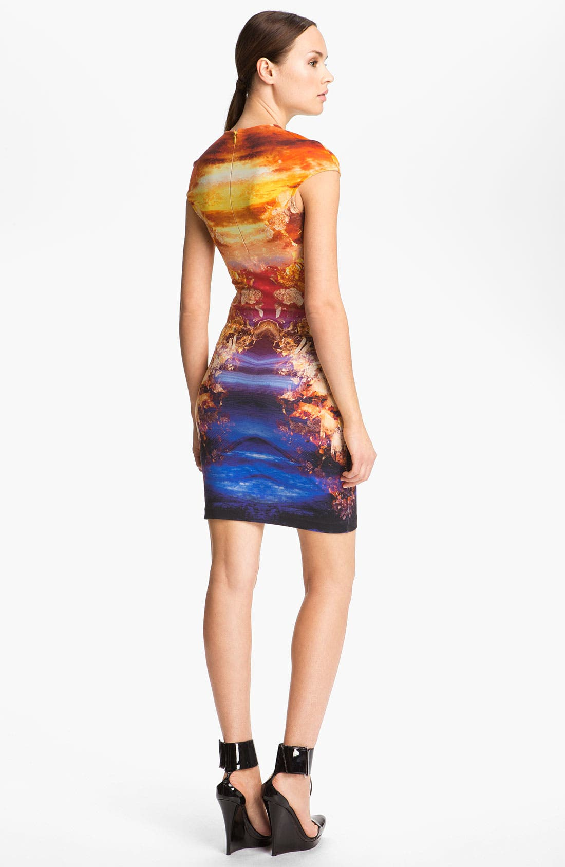Alternate Image 2  - McQ by Alexander McQueen Crystal Print Dress
