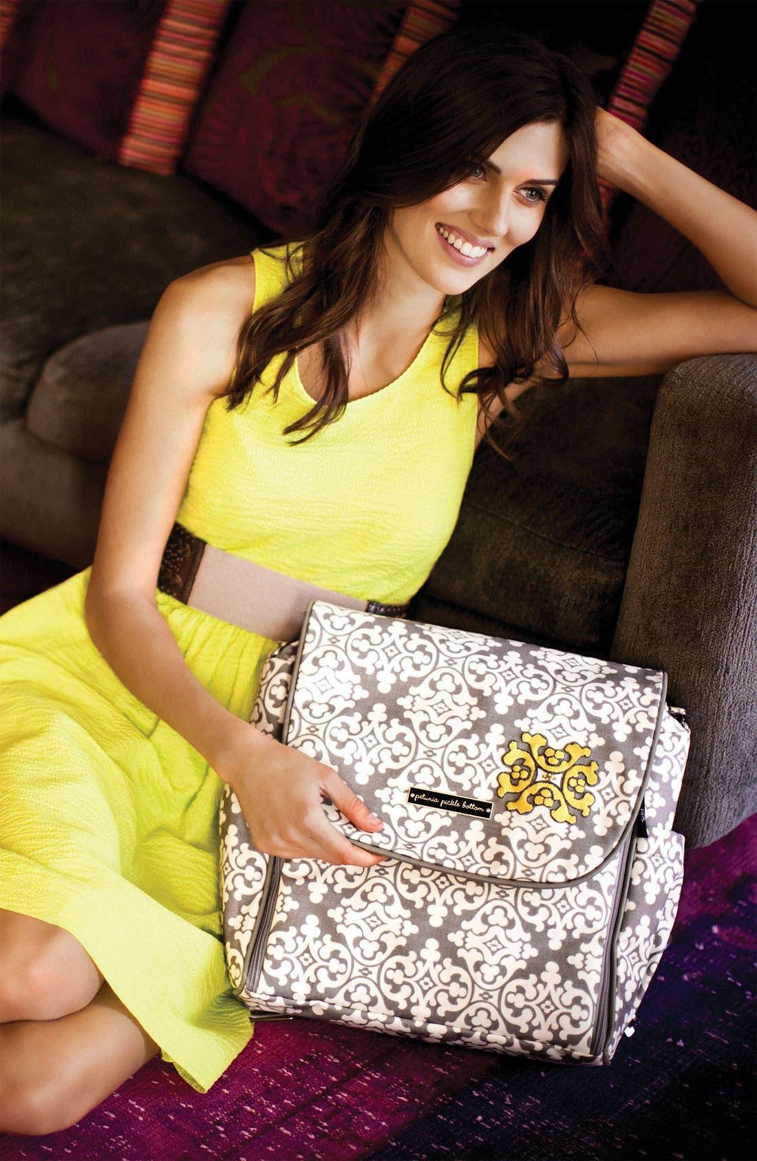 Alternate Image 2  - Petunia Pickle Bottom 'Abundance Boxy' Glazed Backpack Diaper Bag