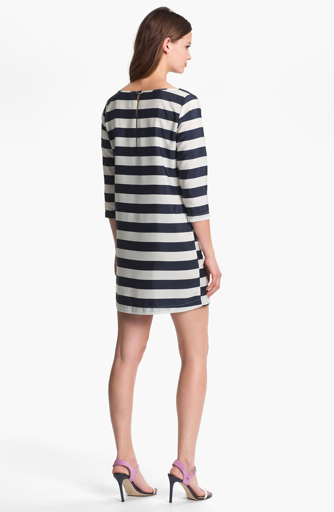 Alternate Image 2  - Press Bateau Neck Stripe Shirtdress