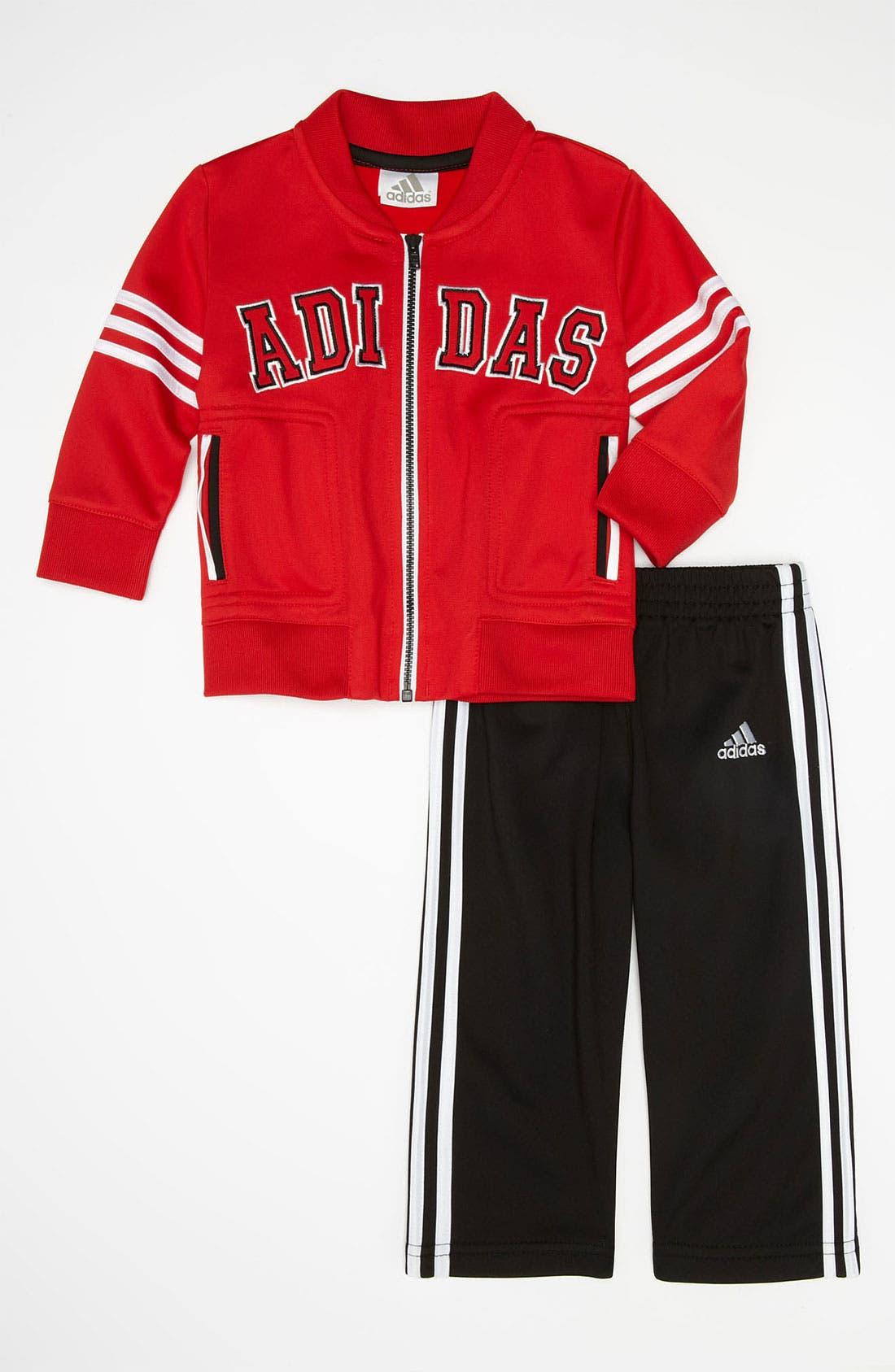 Alternate Image 1 Selected - adidas 'Team' Jacket & Pants (Toddler)