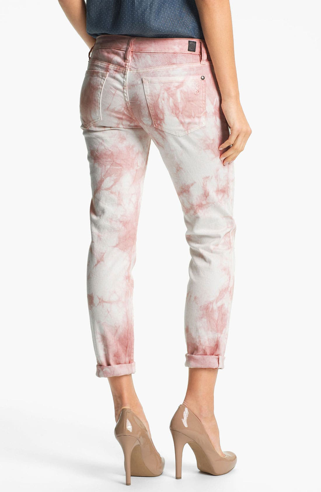 Alternate Image 2  - Jessica Simpson 'Forever' Cuffed Skinny Jeans (Peach Whip) (Online Exclusive)