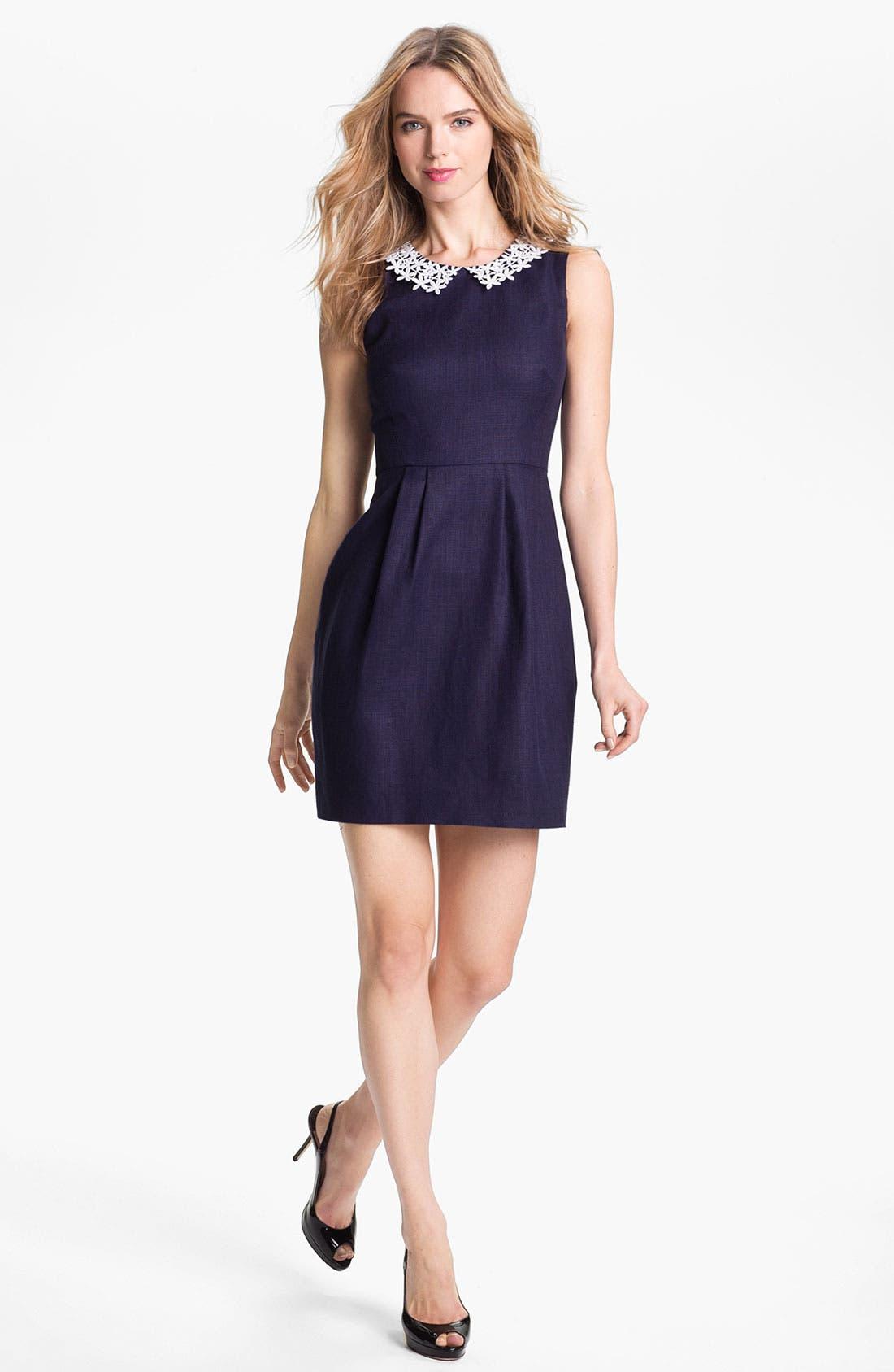 Alternate Image 1 Selected - kate spade new york 'tiff' linen blend sheath dress