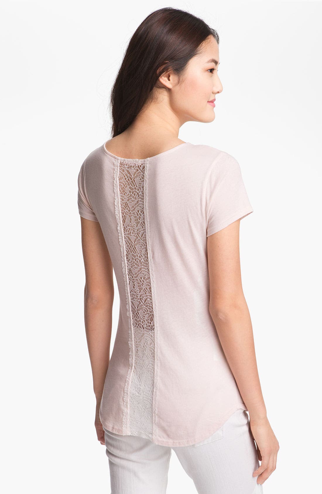 Alternate Image 1 Selected - LAmade Lace Back Tee