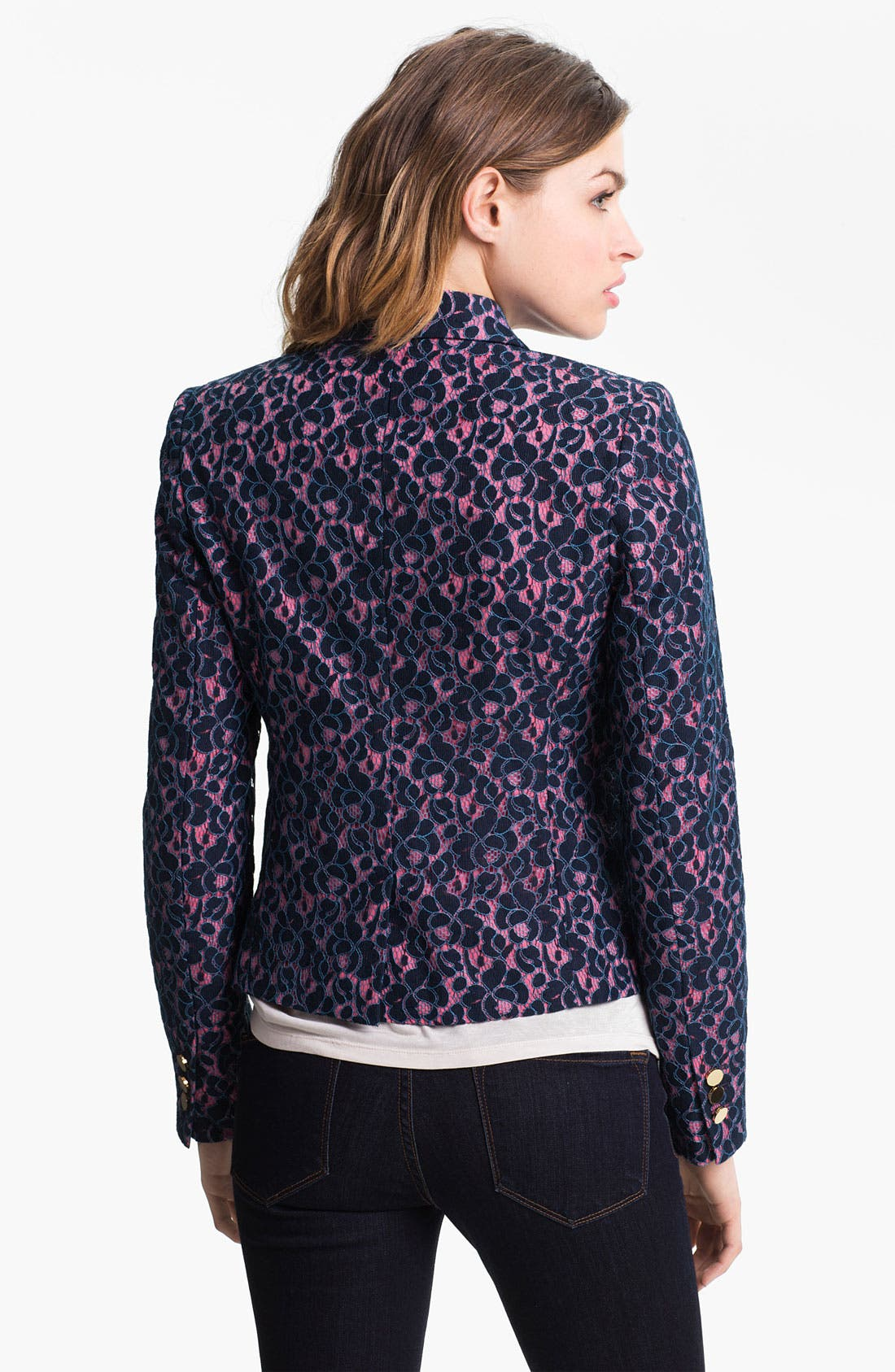 Alternate Image 2  - Juicy Couture Double Breasted Lace Blazer