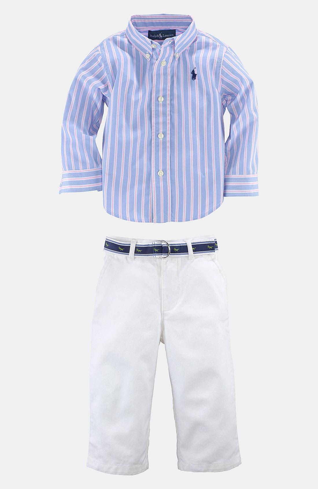 Main Image - Ralph Lauren Shirt & Pants (Baby)