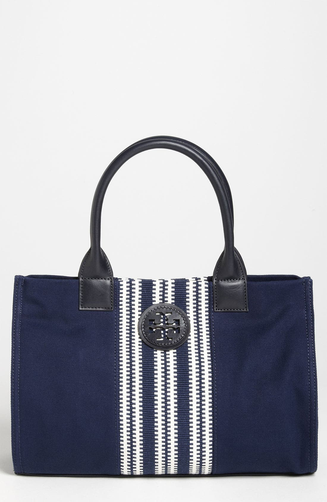 Main Image - Tory Burch 'Center Stripe Ella - Small' Tote