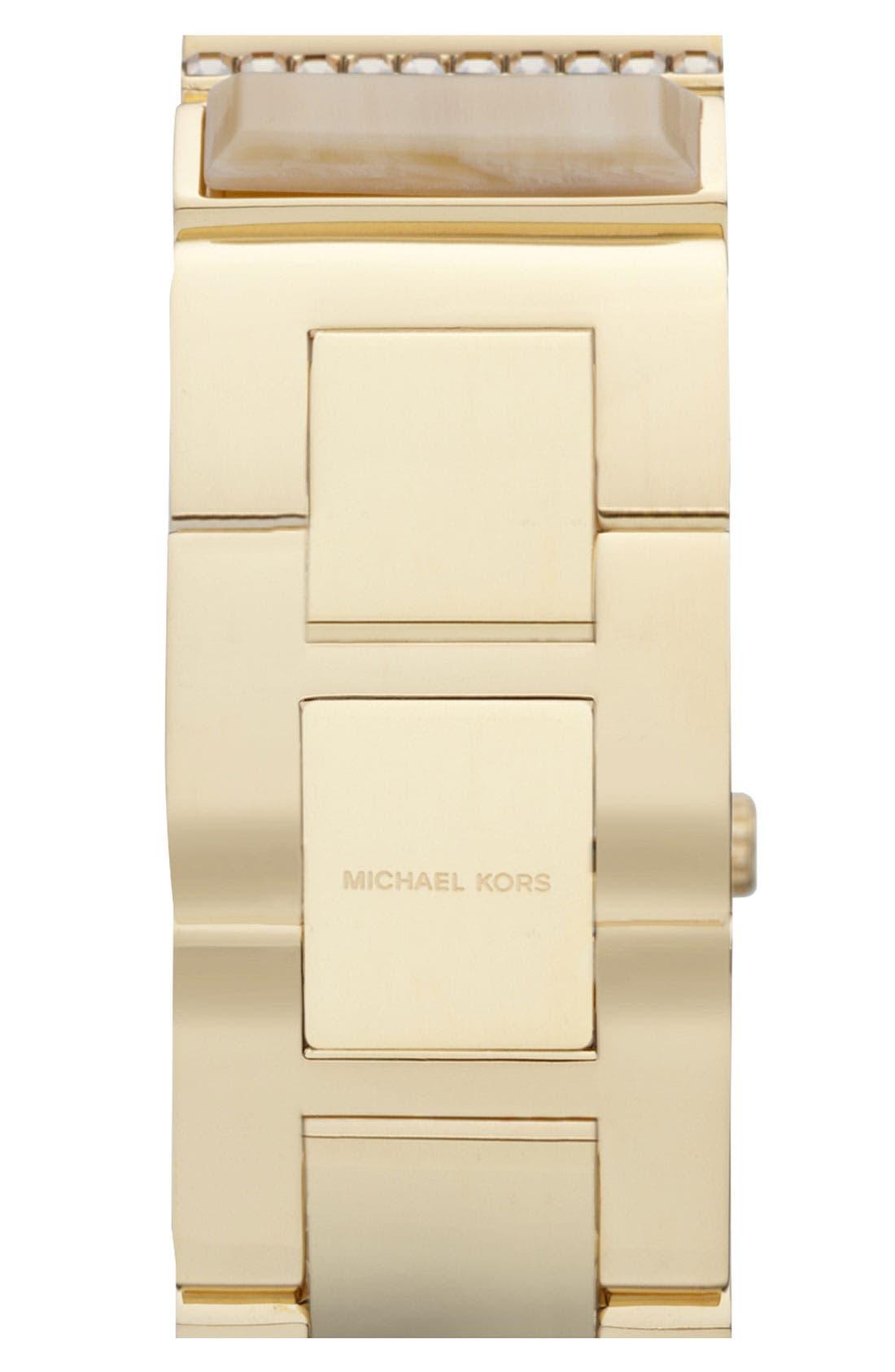 Alternate Image 3  - Michael Kors 'Erin' Baguette Stone Bracelet Watch