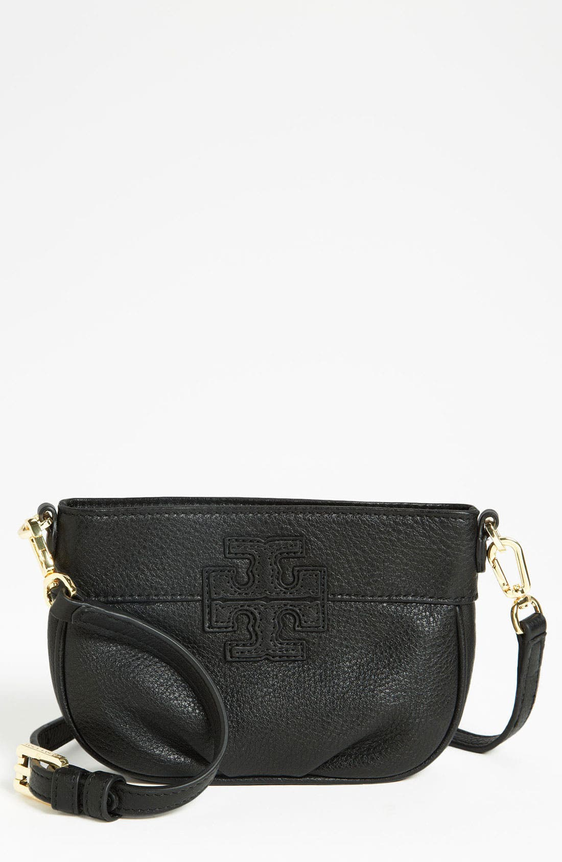 Alternate Image 1 Selected - Tory Burch 'Stacked T' Leather Crossbody Bag