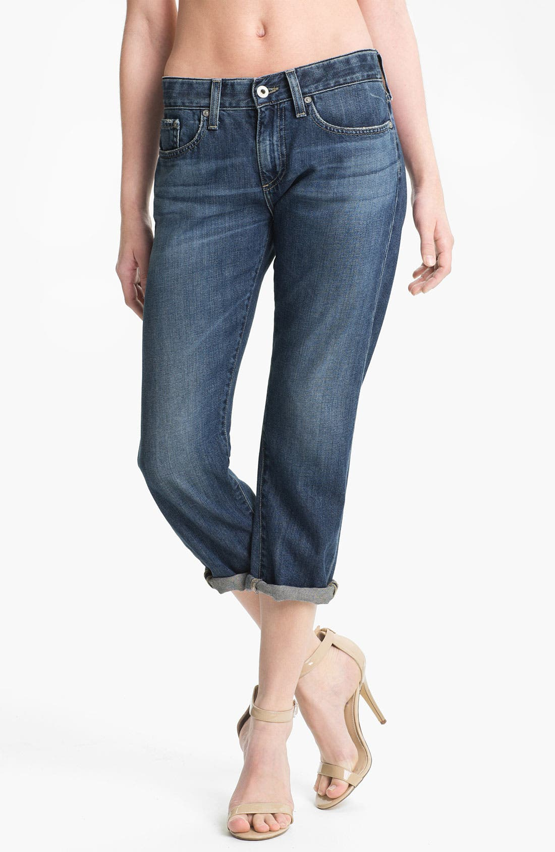 Alternate Image 1 Selected - AG Jeans 'Piper' Crop Slouchy Slim Jeans (Minimalist)