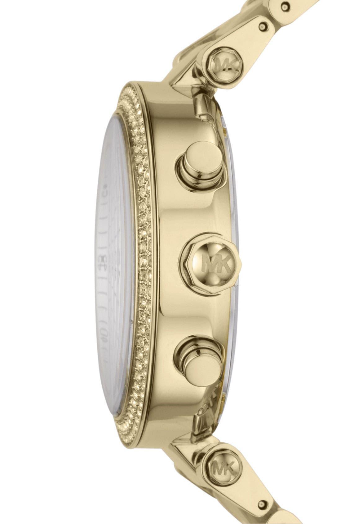 'Parker' Chronograph Watch, 39mm,                             Alternate thumbnail 3, color,                             Gold/ Horn