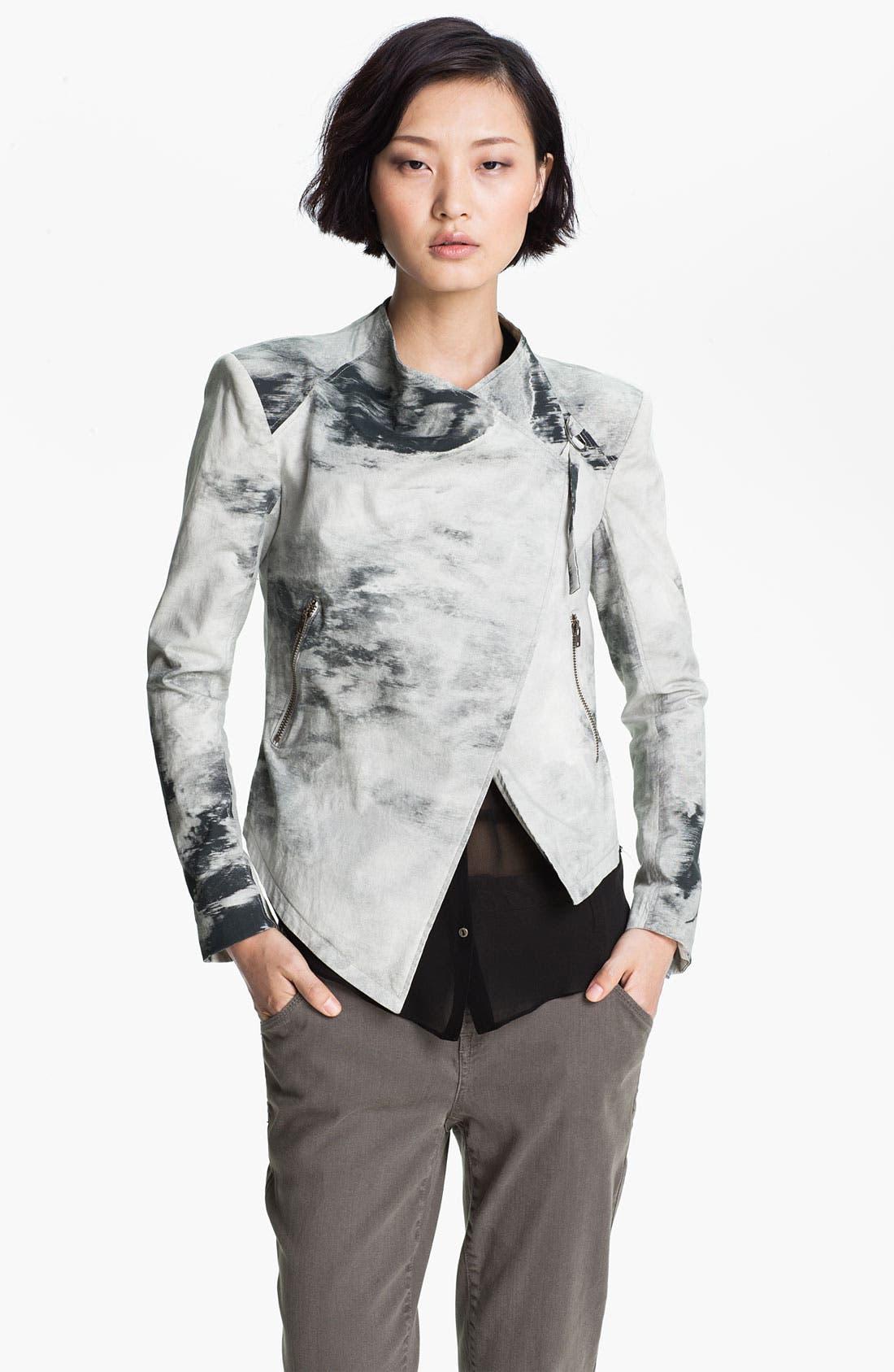 Alternate Image 3  - HELMUT Helmut Lang Smudge Print Poplin Jacket