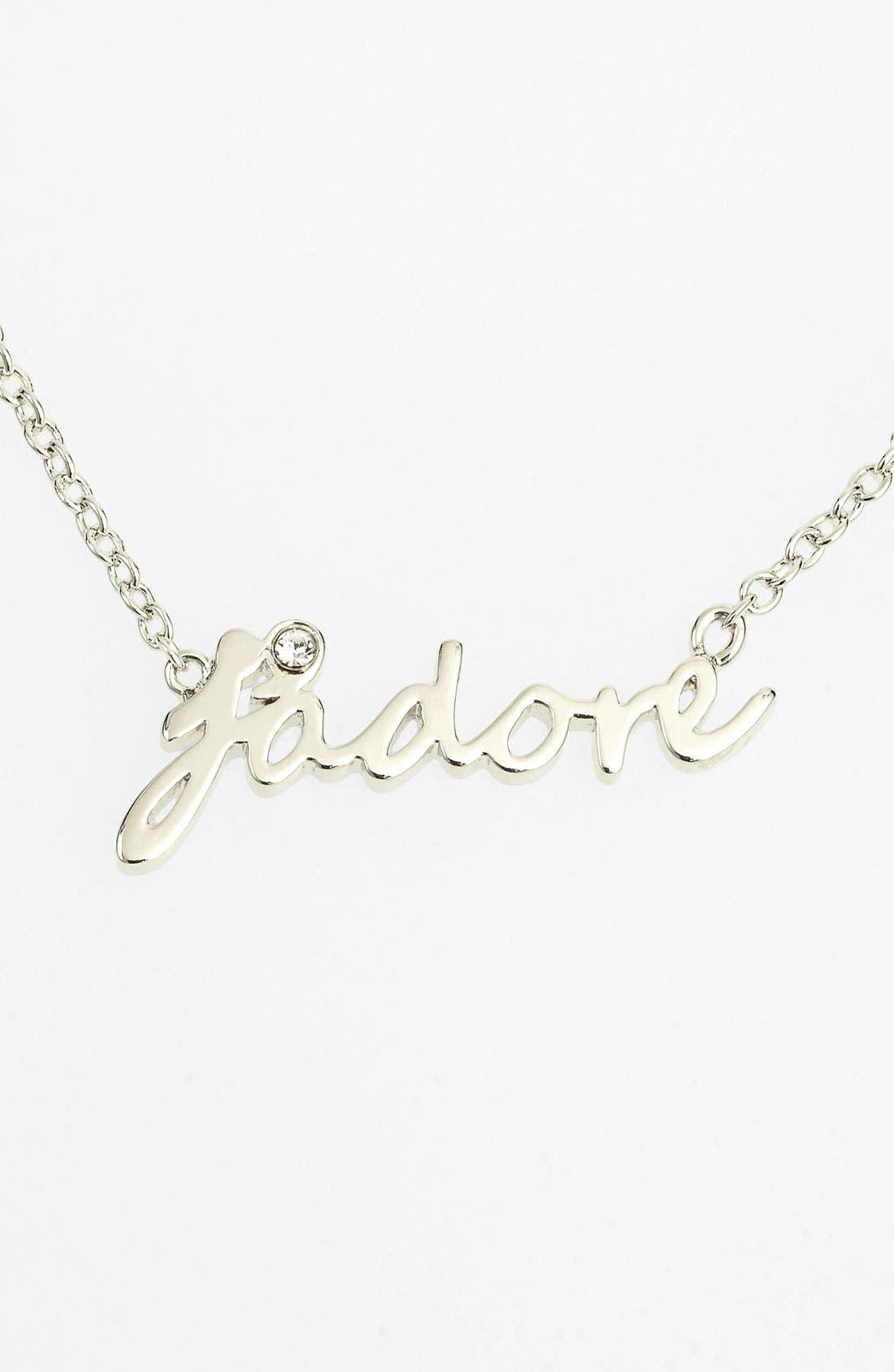 Main Image - Ariella Collection 'Messages - J'Adore' Script Pendant Necklace