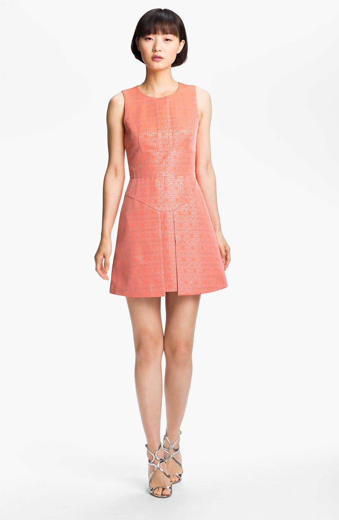 Main Image - Tibi Metallic Jacquard Dress