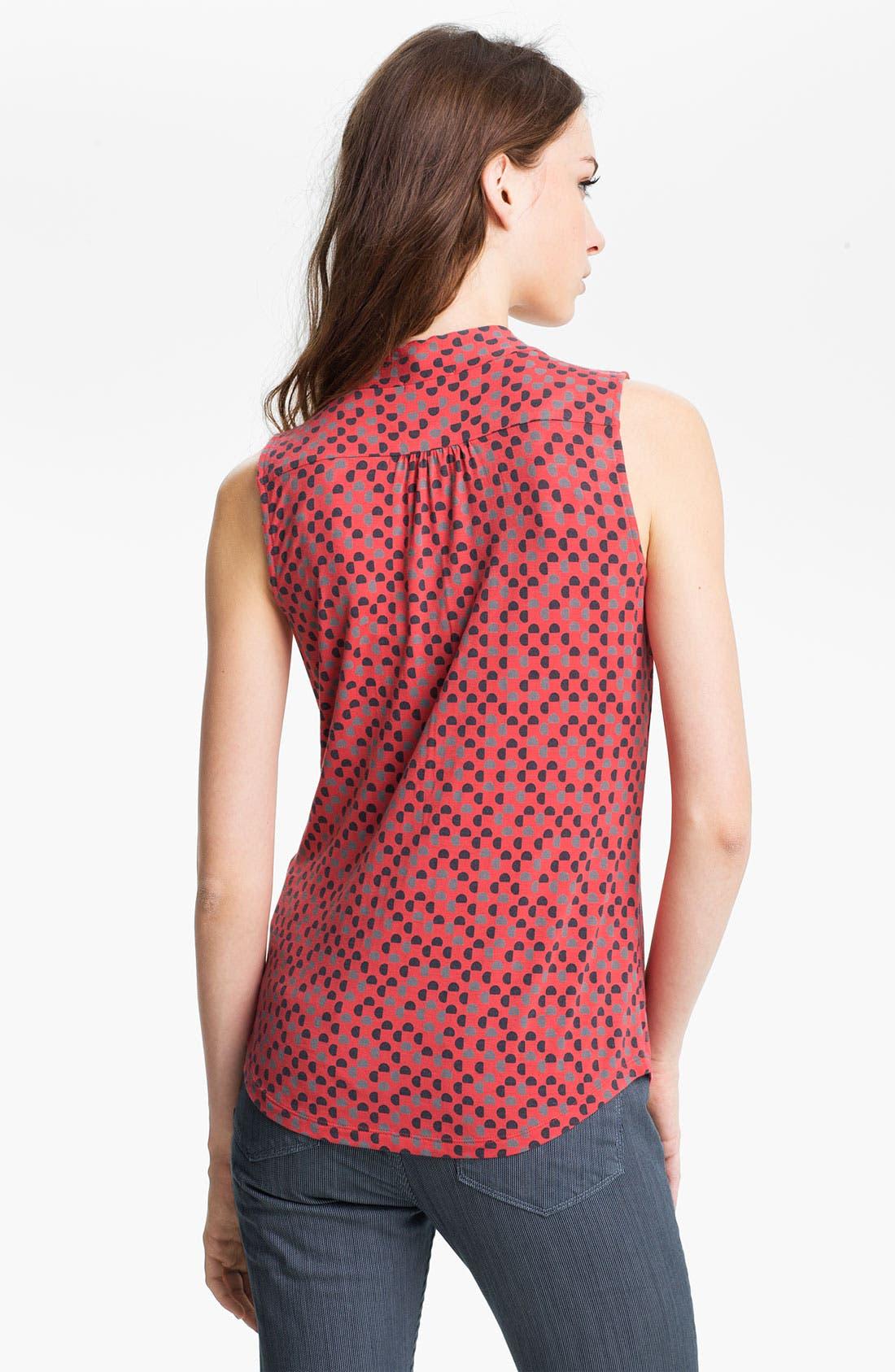 Alternate Image 2  - Halogen Tie Neck Sleeveless Knit Top (Petite)