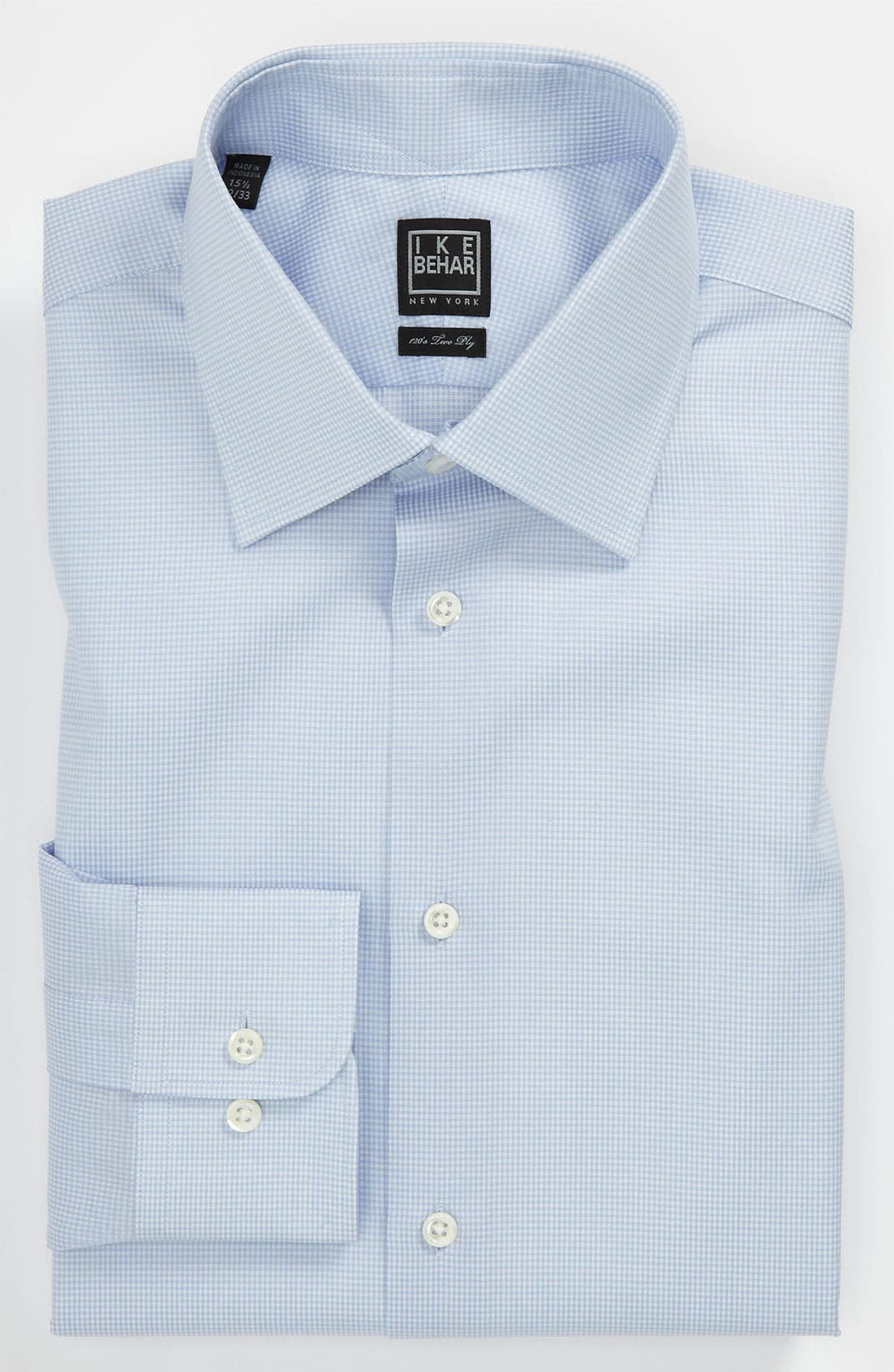 Main Image - Ike Behar Regular Fit Tonal Texture Dress Shirt (Online Only)