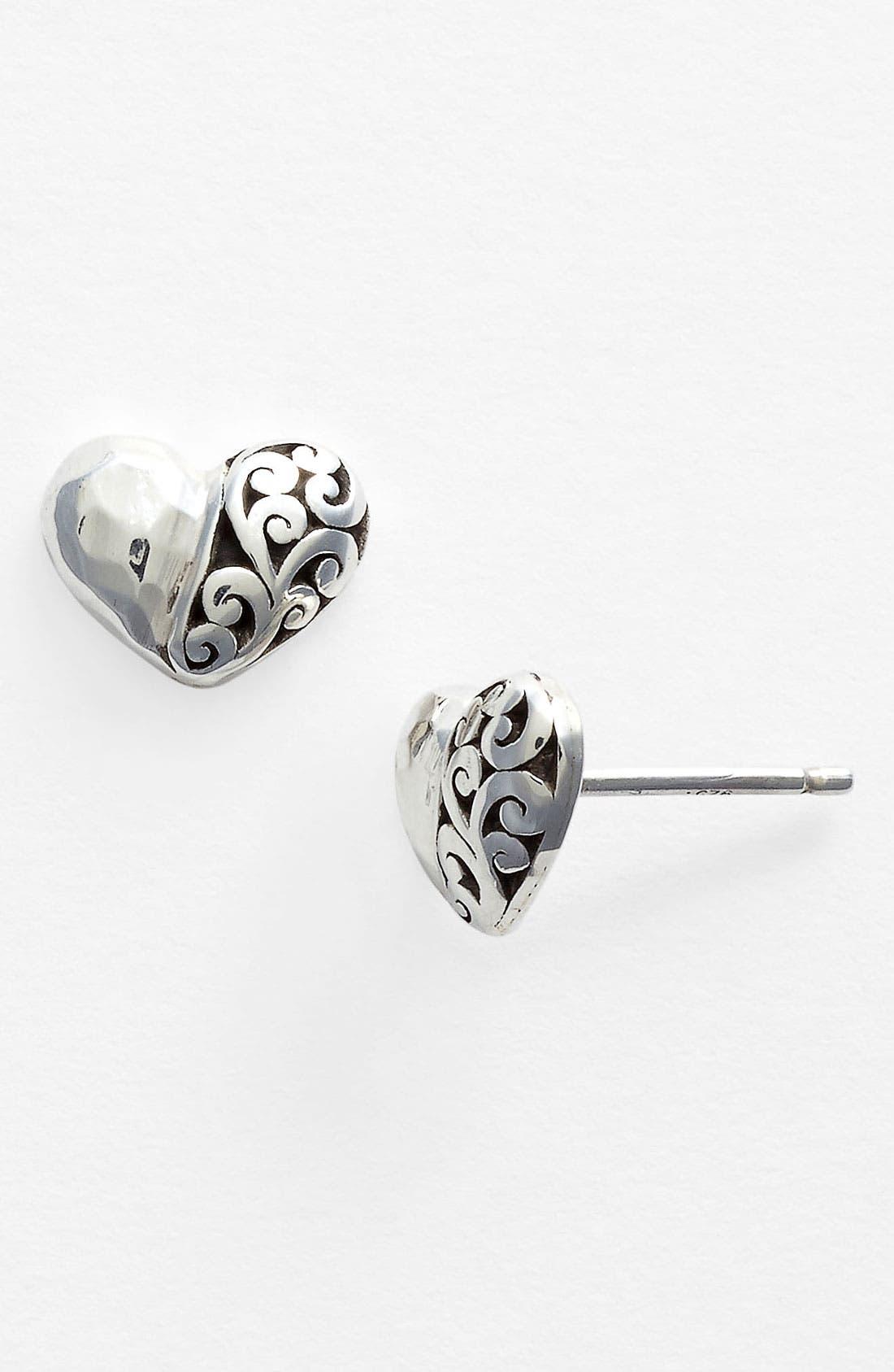 Alternate Image 1 Selected - Lois Hill Heart Stud Earrings