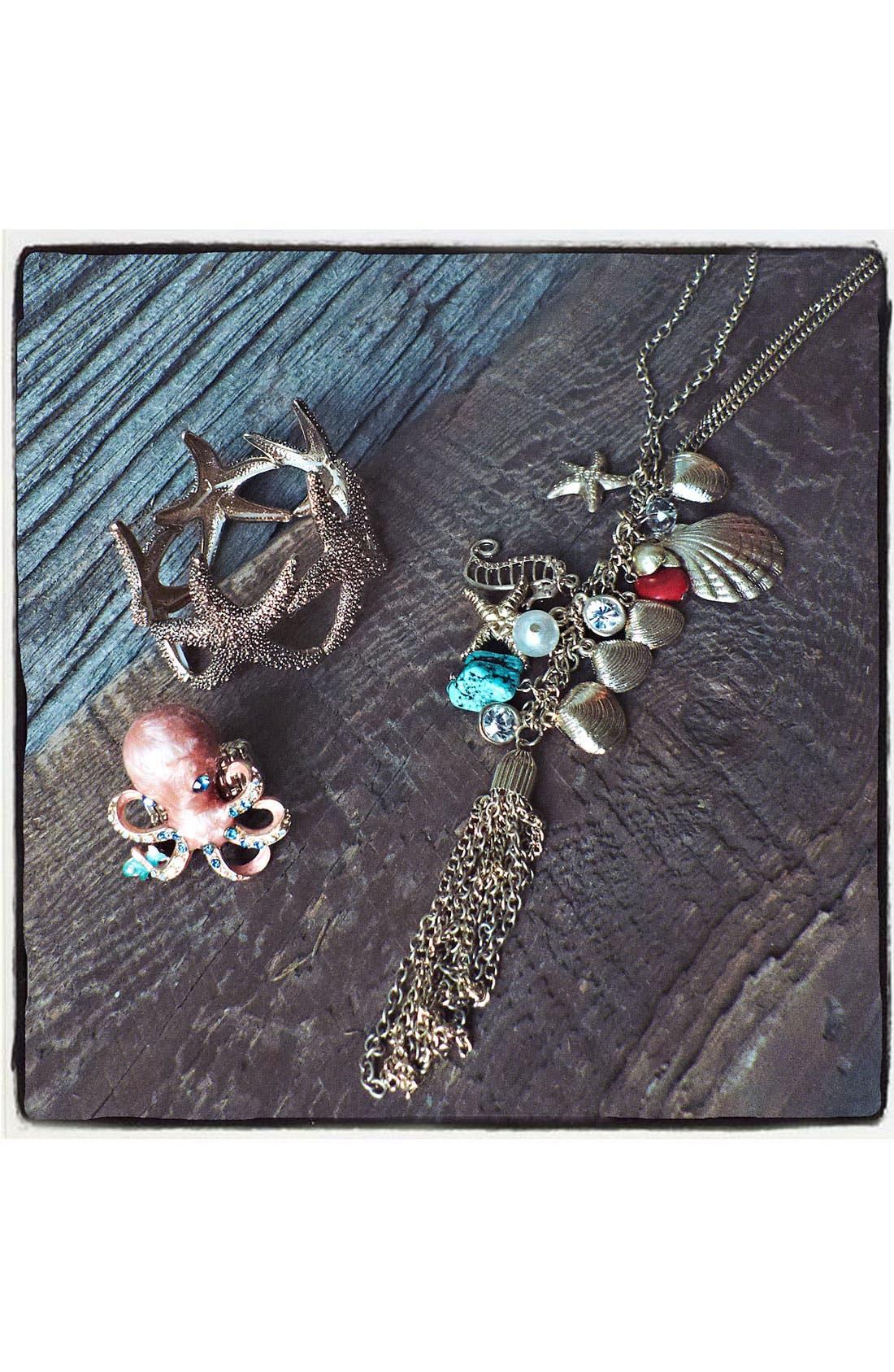 Alternate Image 2  - Cara 'Under the Sea' Gathered Charm Necklace