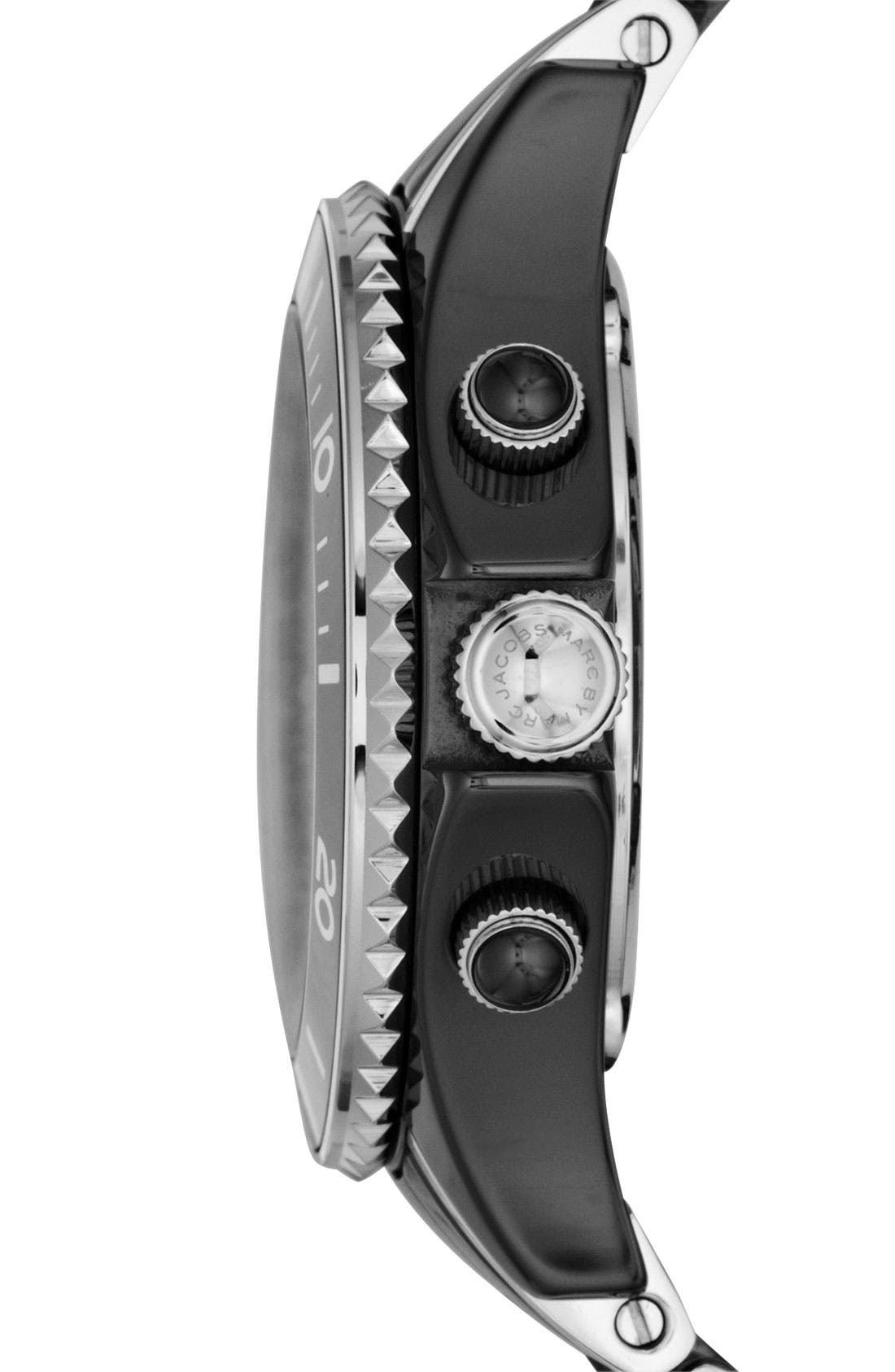 Alternate Image 2  - MARC BY MARC JACOBS 'Rock' Ceramic Chronograph Watch