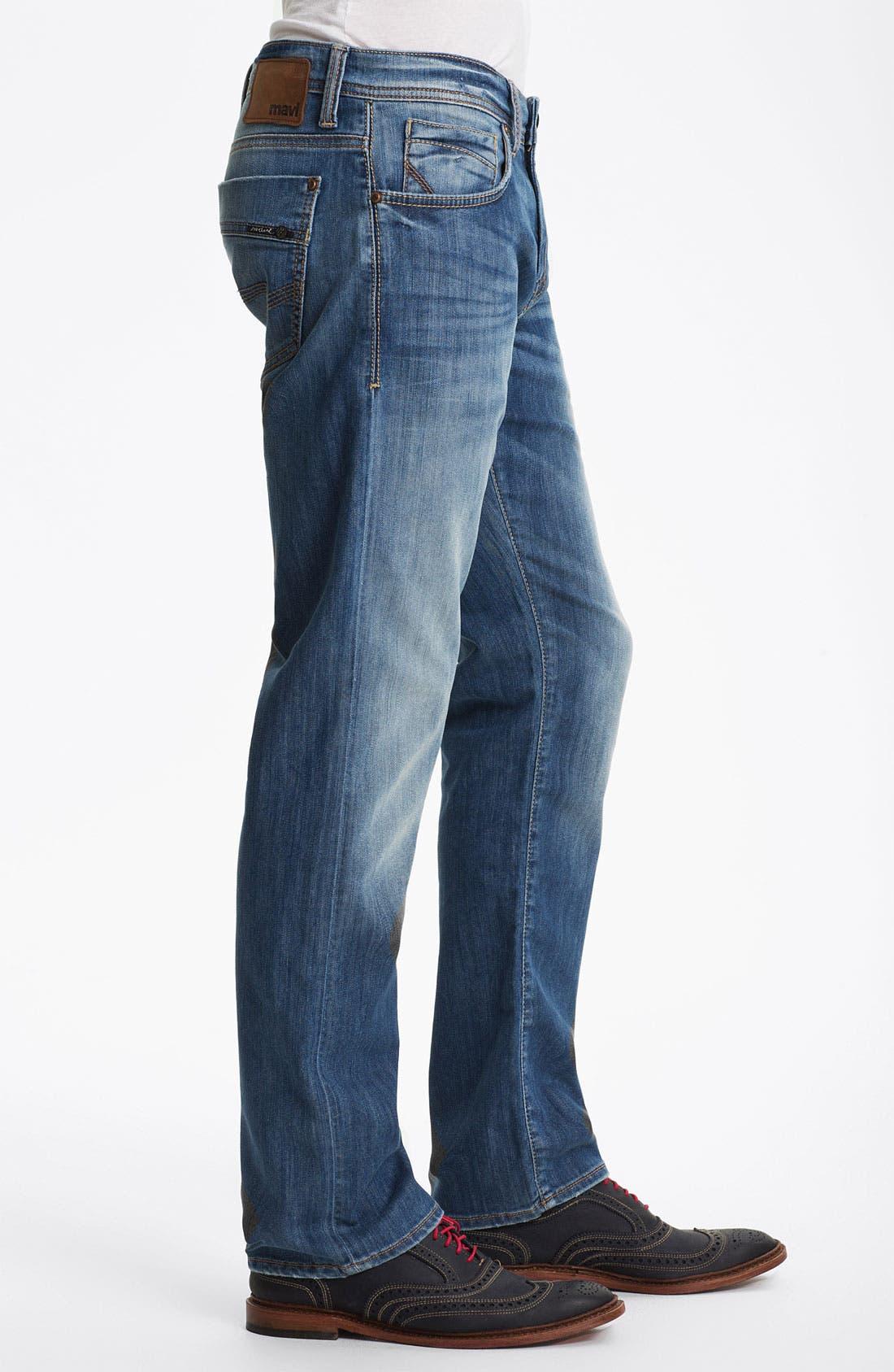 Alternate Image 3  - Mavi Jeans 'Zach' Straight Leg Jeans (Light Cooper)