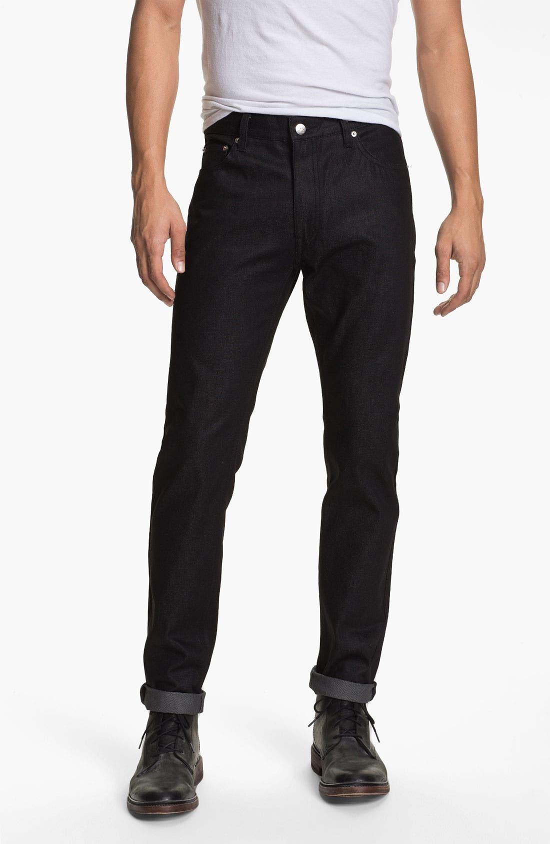 Alternate Image 2  - Cheap Monday High Slim Leg Jeans (Dry Black)