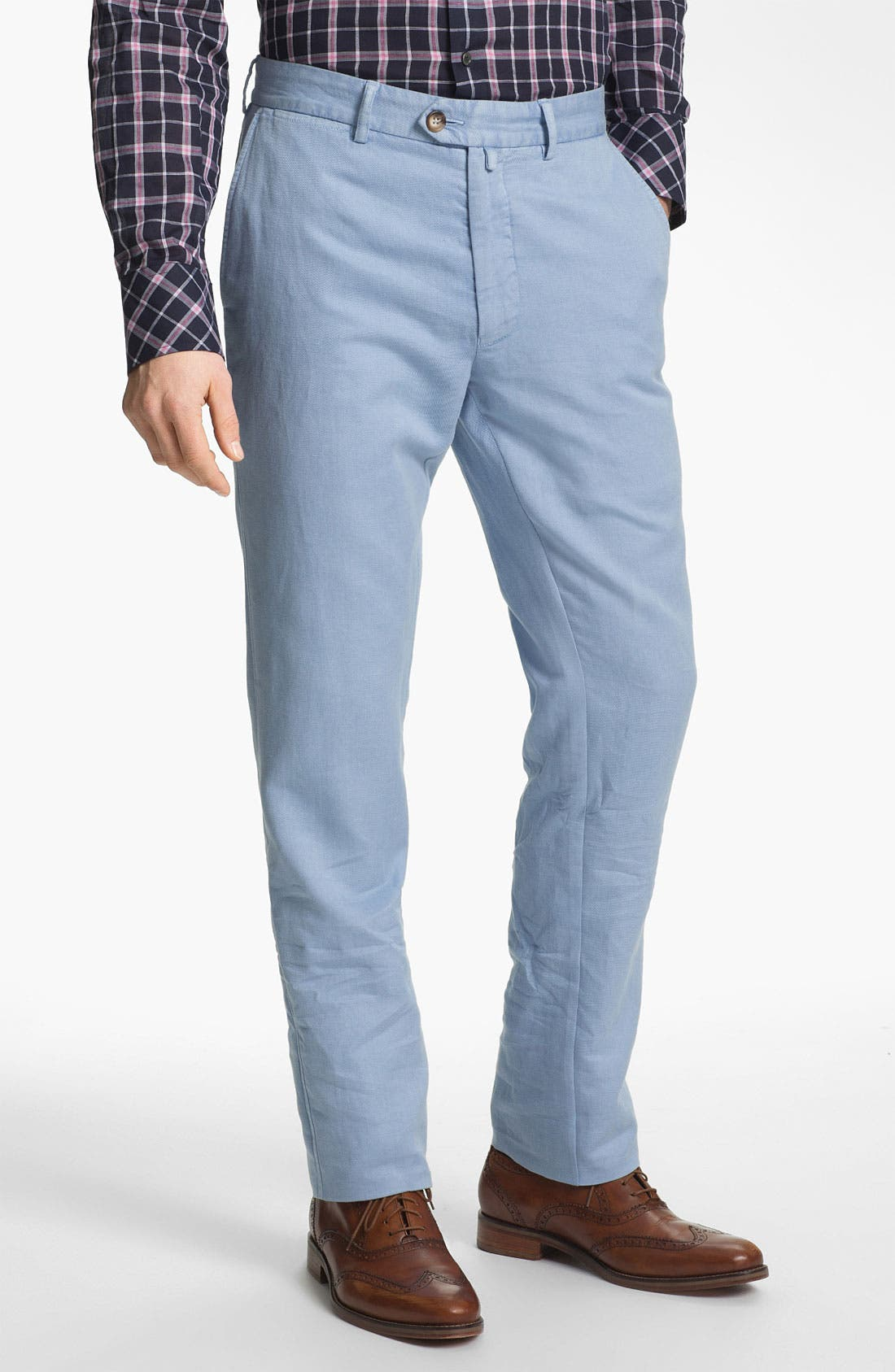 Alternate Image 1 Selected - Façonnable 'USA Senator' Flat Front Pants