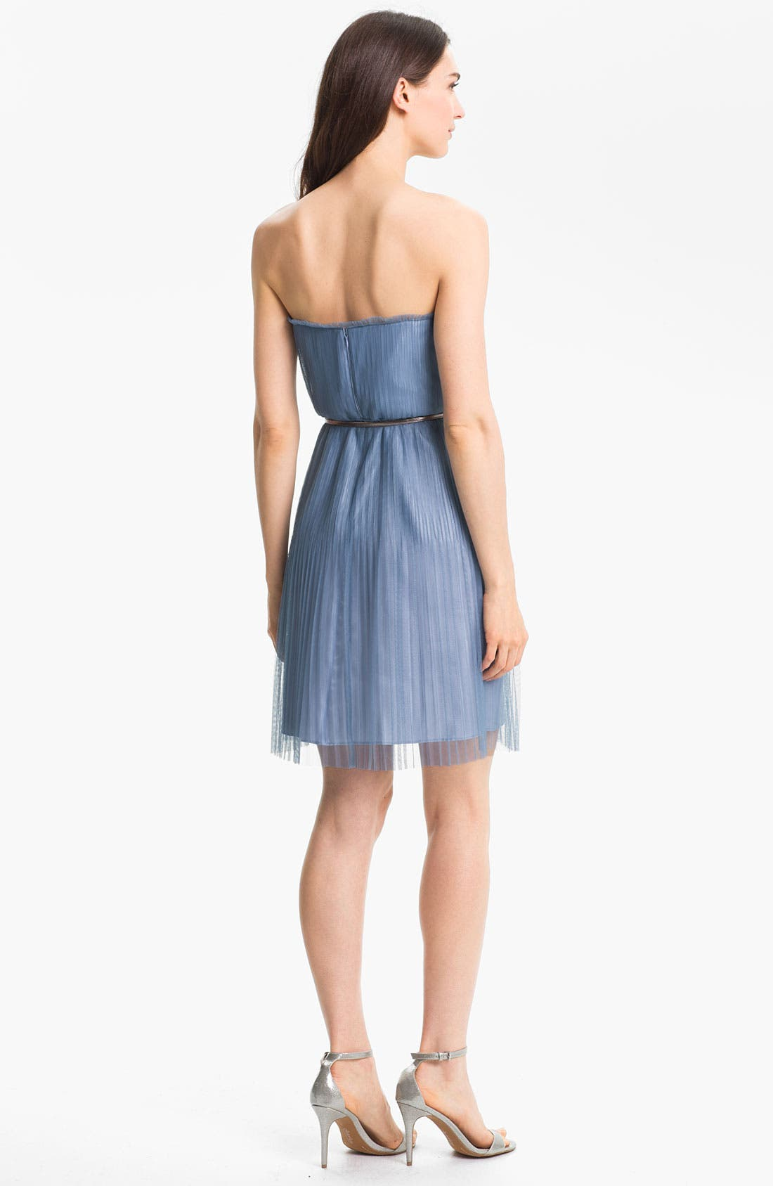 Alternate Image 2  - Donna Morgan Strapless Textured Tulle Dress