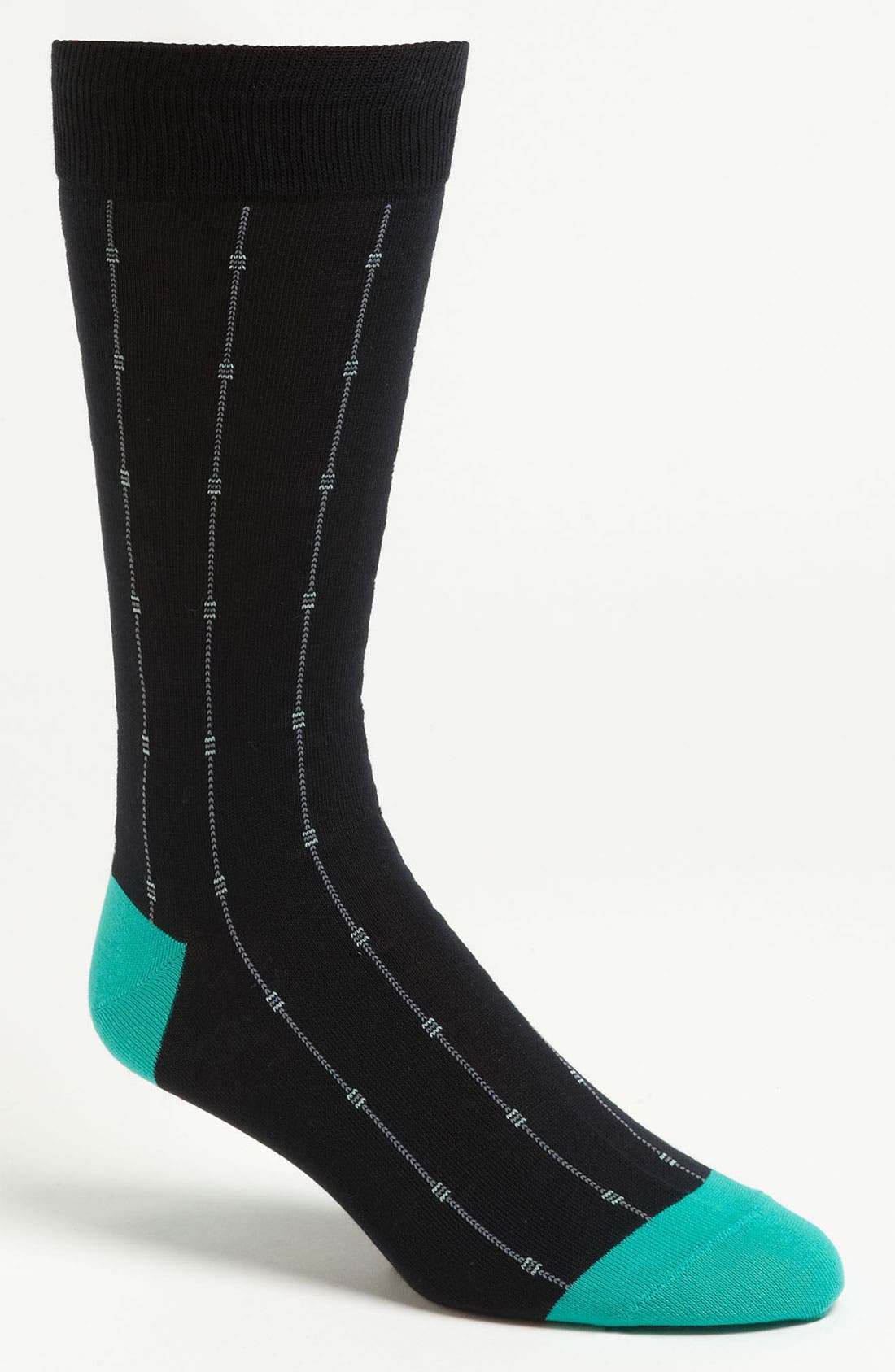 Alternate Image 1 Selected - Cole Haan 'Squares and Pin Stripes' Socks