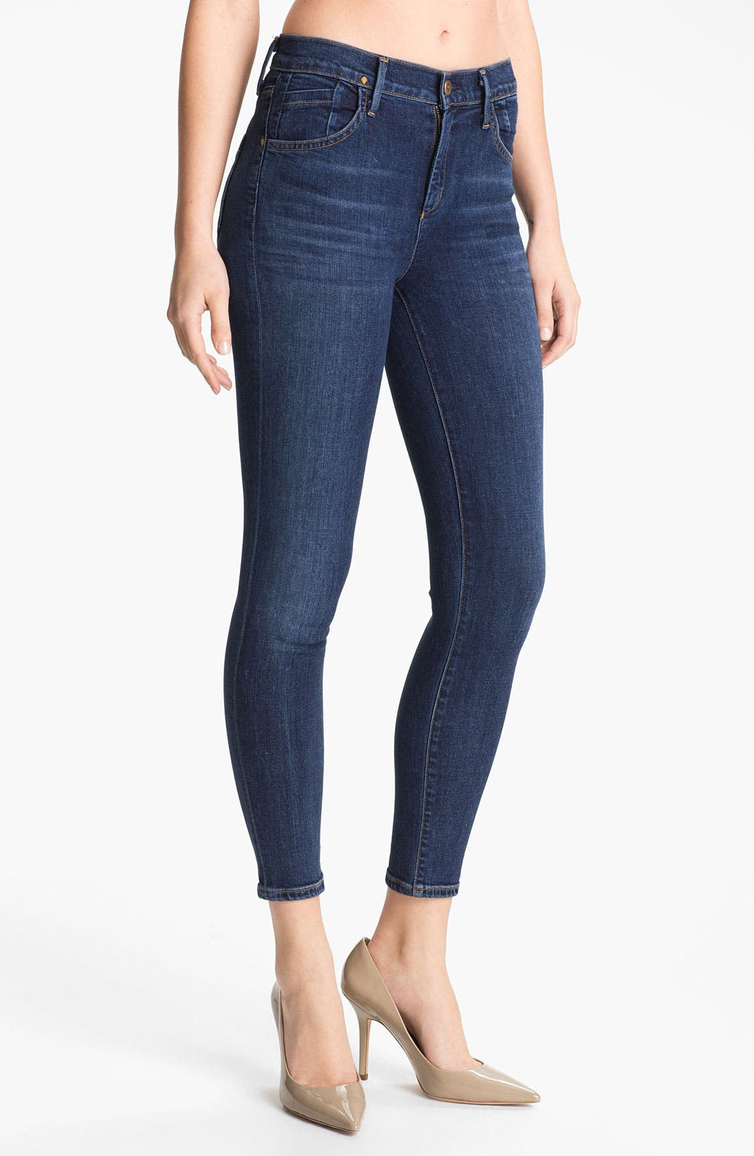 Alternate Image 1 Selected - Goldsign 'Virtual' Crop Skinny Stretch Jeans (Zagir)