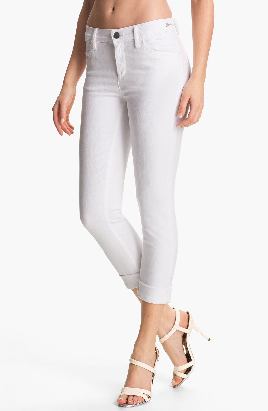 Main Image - Goldsign 'Jenny' High Waist Crop Skinny Jeans (Divine)