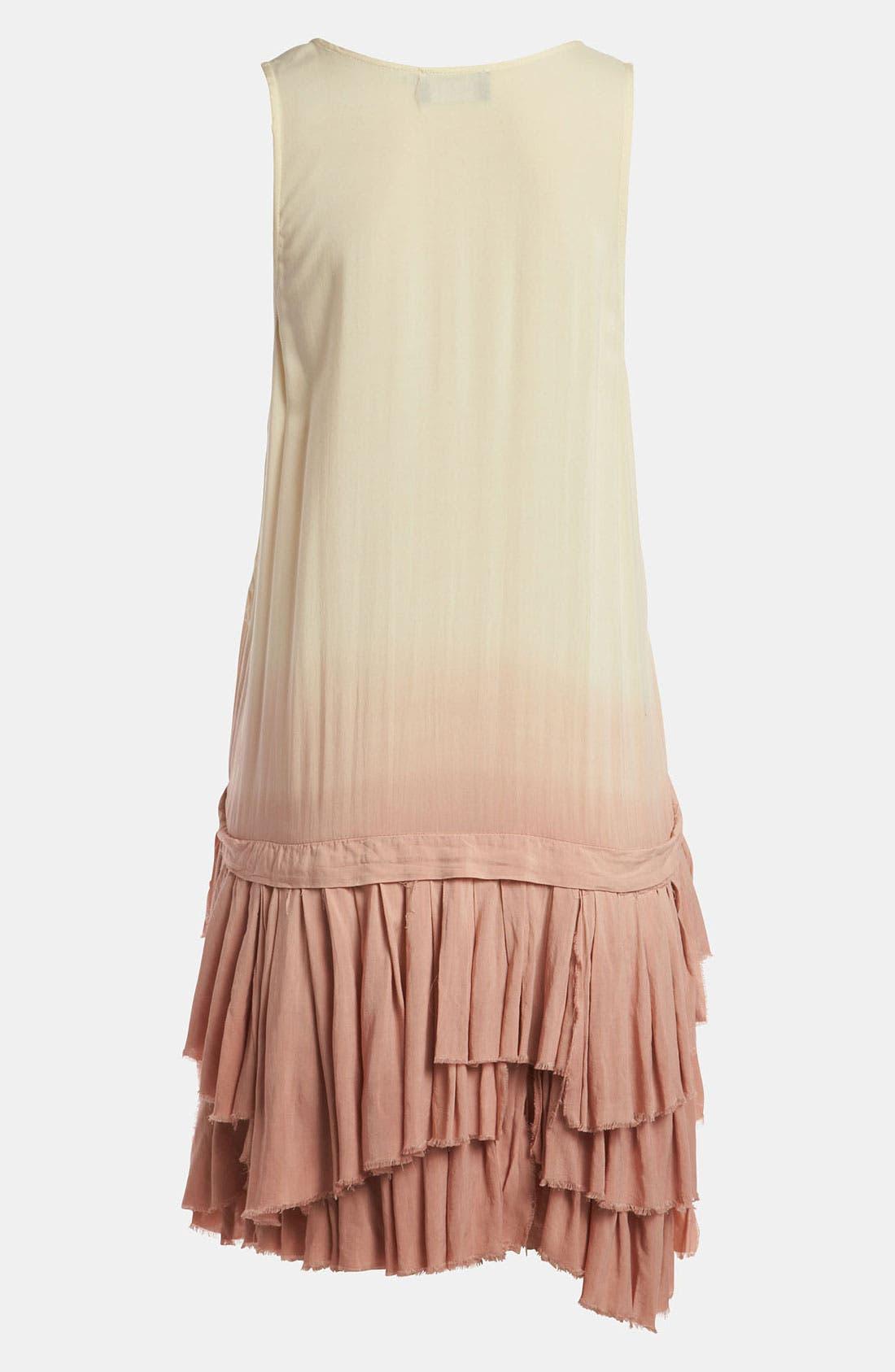 Alternate Image 2  - ASTR 'Ra Ra Ruffle' Dip Dye Tank Dress