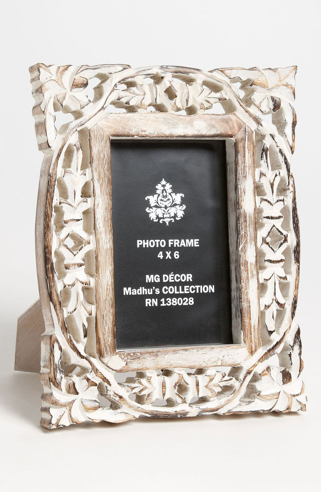 Alternate Image 2  - Carved Wood Picture Frame (4x6)