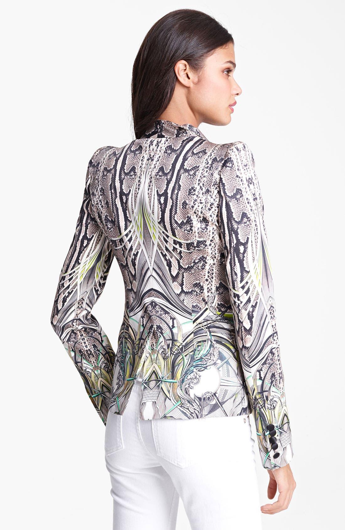 Alternate Image 2  - Roberto Cavalli Reptile Print Silk Blazer
