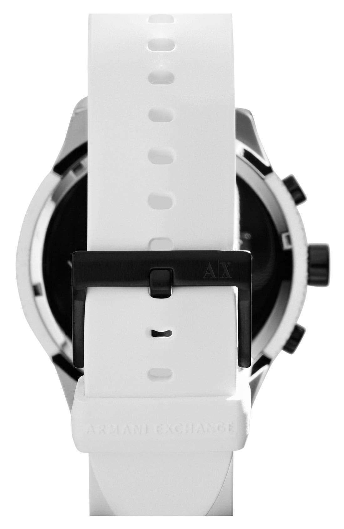 Alternate Image 2  - AX Armani Exchange Round Silicone Strap Watch, 47mm