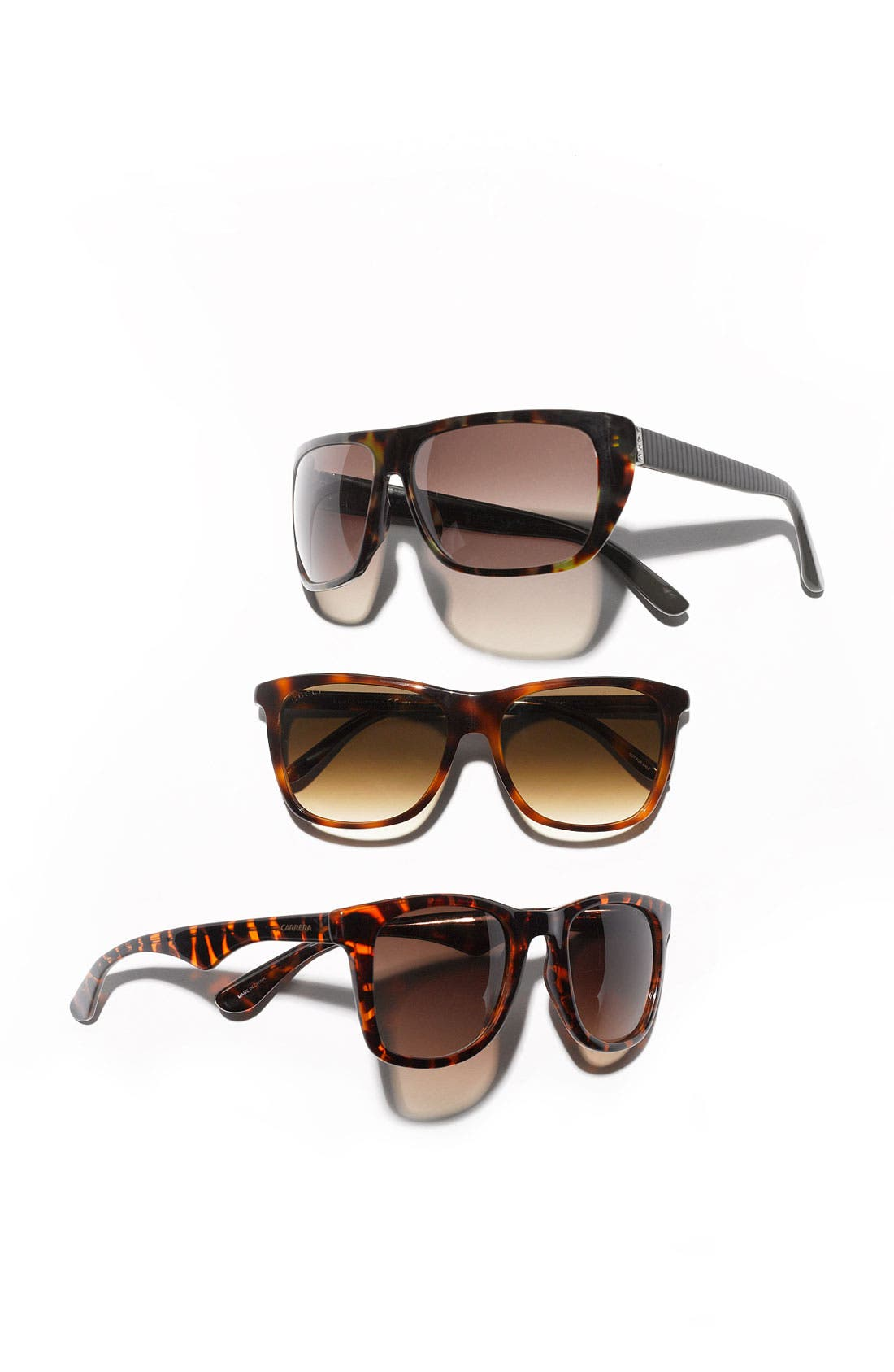Alternate Image 2  - Gucci Rectangular 55mm Sunglasses