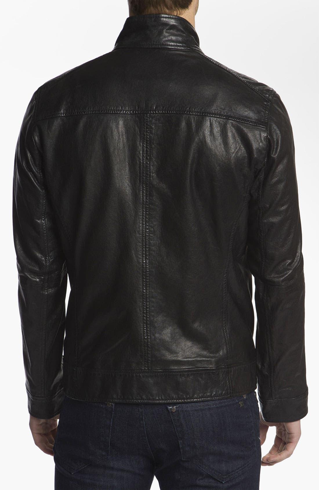 Alternate Image 2  - BOSS Orange 'Jips1' Leather Jacket