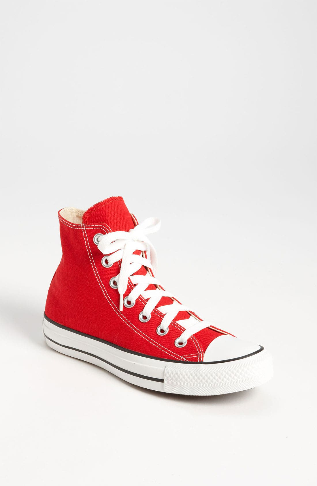 Chuck Taylor<sup>®</sup> High Top Sneaker,                         Main,                         color, Red