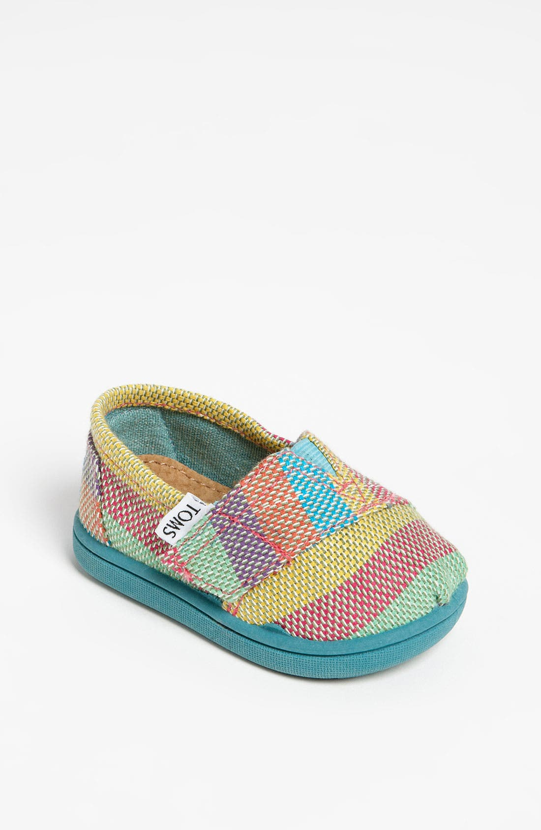 Main Image - TOMS 'Classic - Tiny' Plaid Slip-On (Baby, Walker & Toddler)