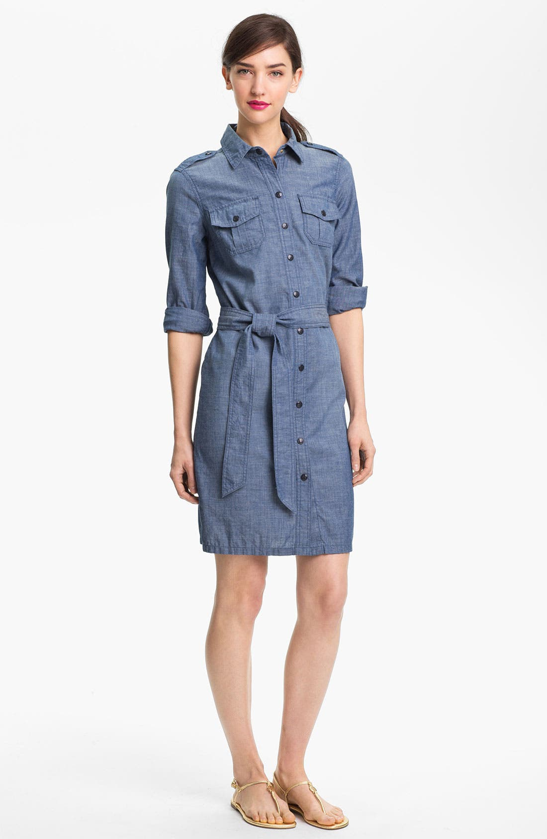 Alternate Image 1 Selected - Tory Burch 'Brigitte' Cotton Shirtdress