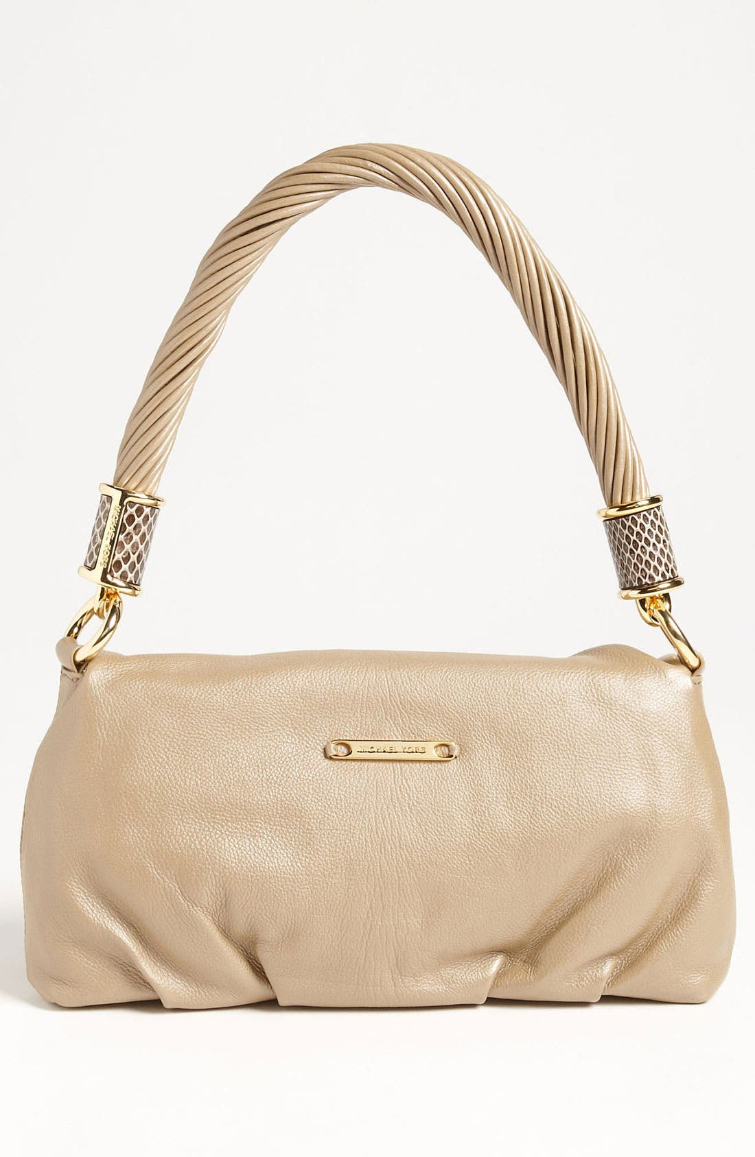 Alternate Image 4  - Michael Kors 'Tonne - Small' Calfskin Leather Shoulder Bag